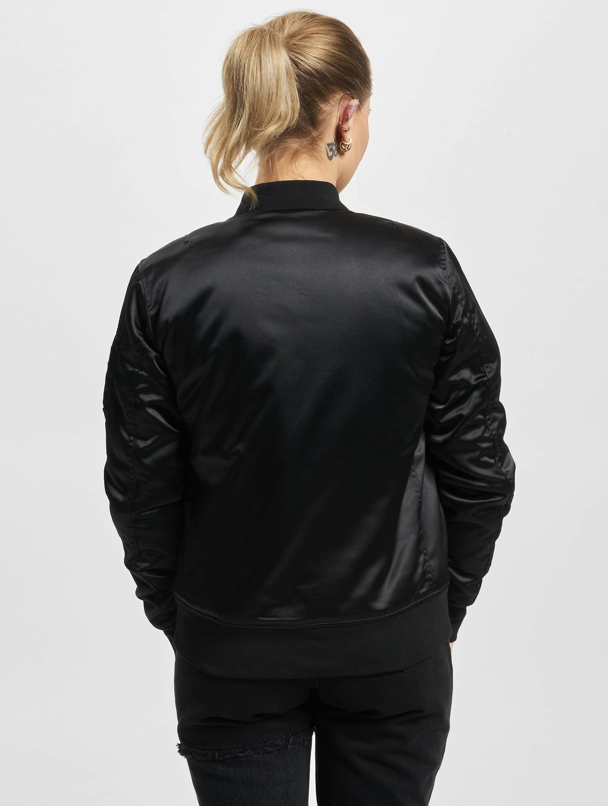 Urban Classics Куртка-бомбардир Satin черный