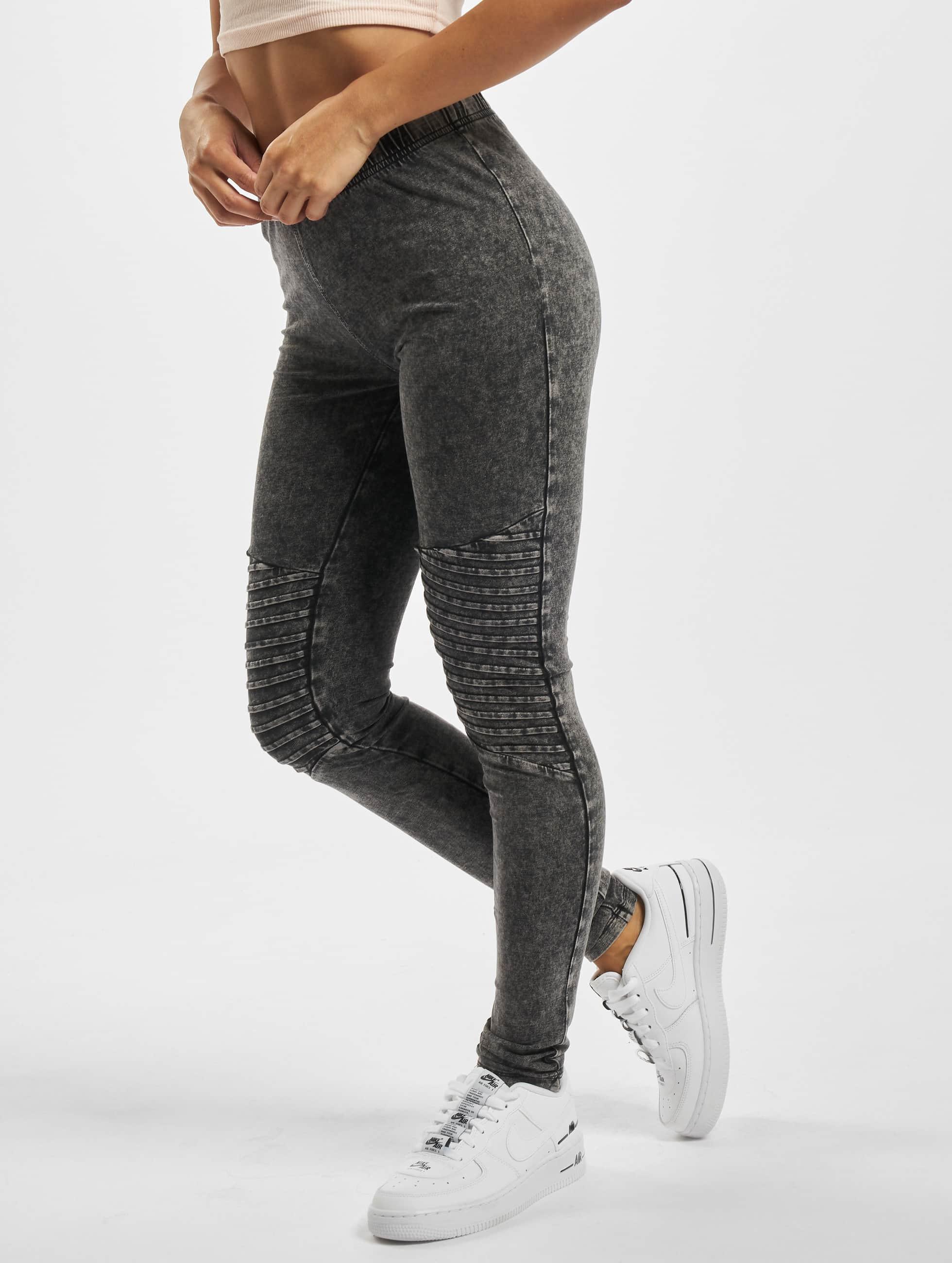 Urban Classics Леггинсы Denim Jersey серый