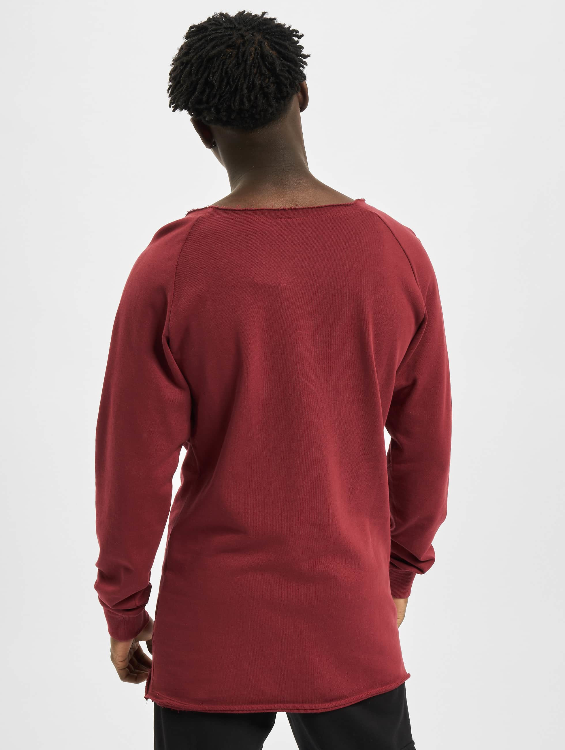 Urban Classics Пуловер Long Open Edge Terry красный