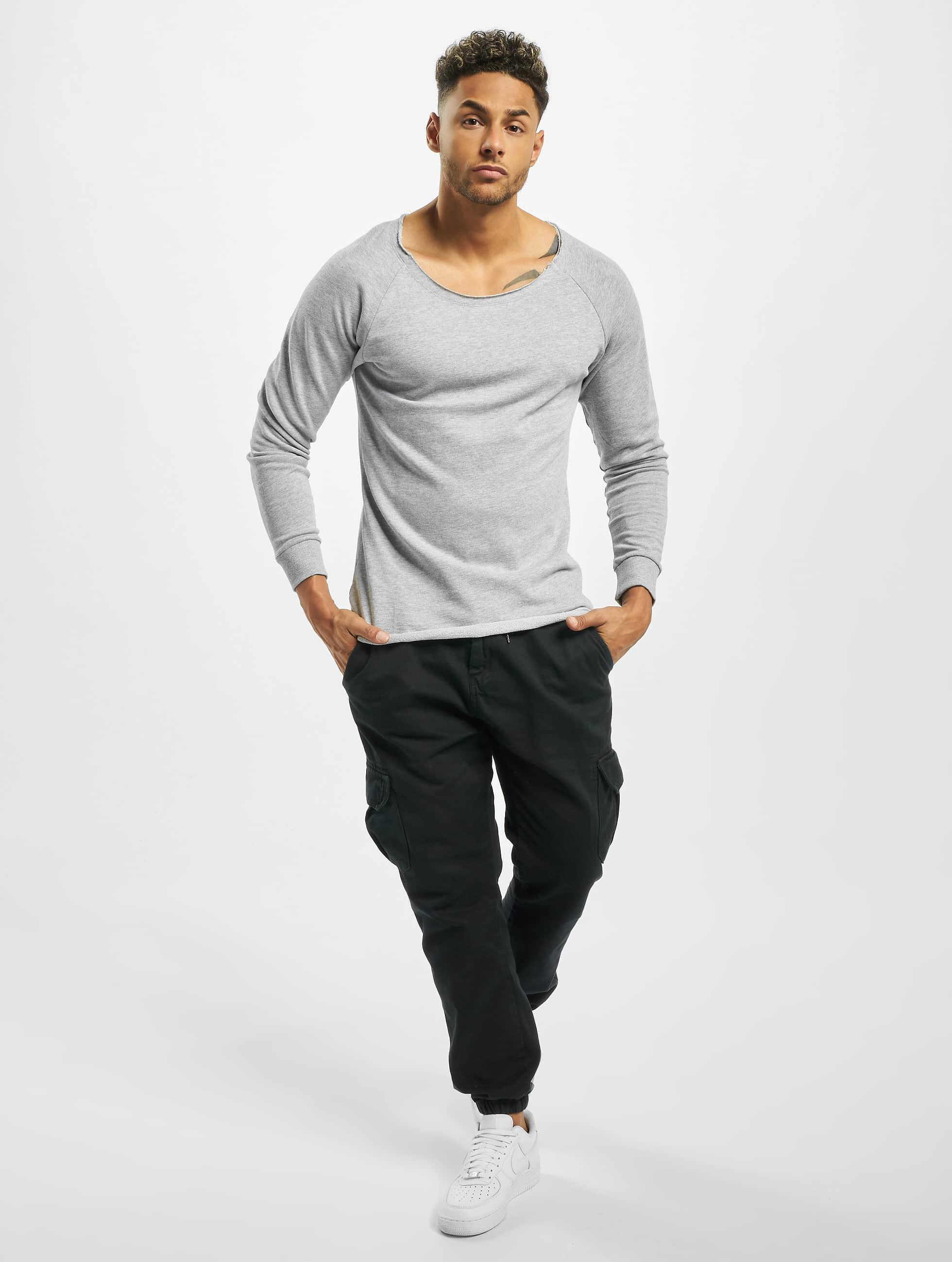 Urban Classics Пуловер Long Open Edge Terry серый