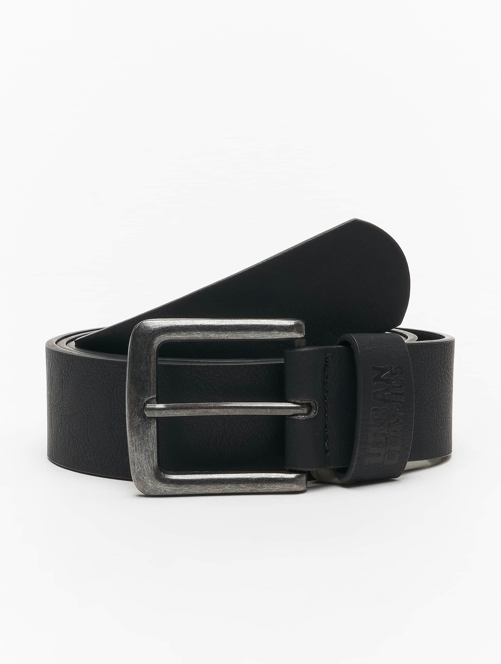 Urban Classics Ремень Leather Imitation черный