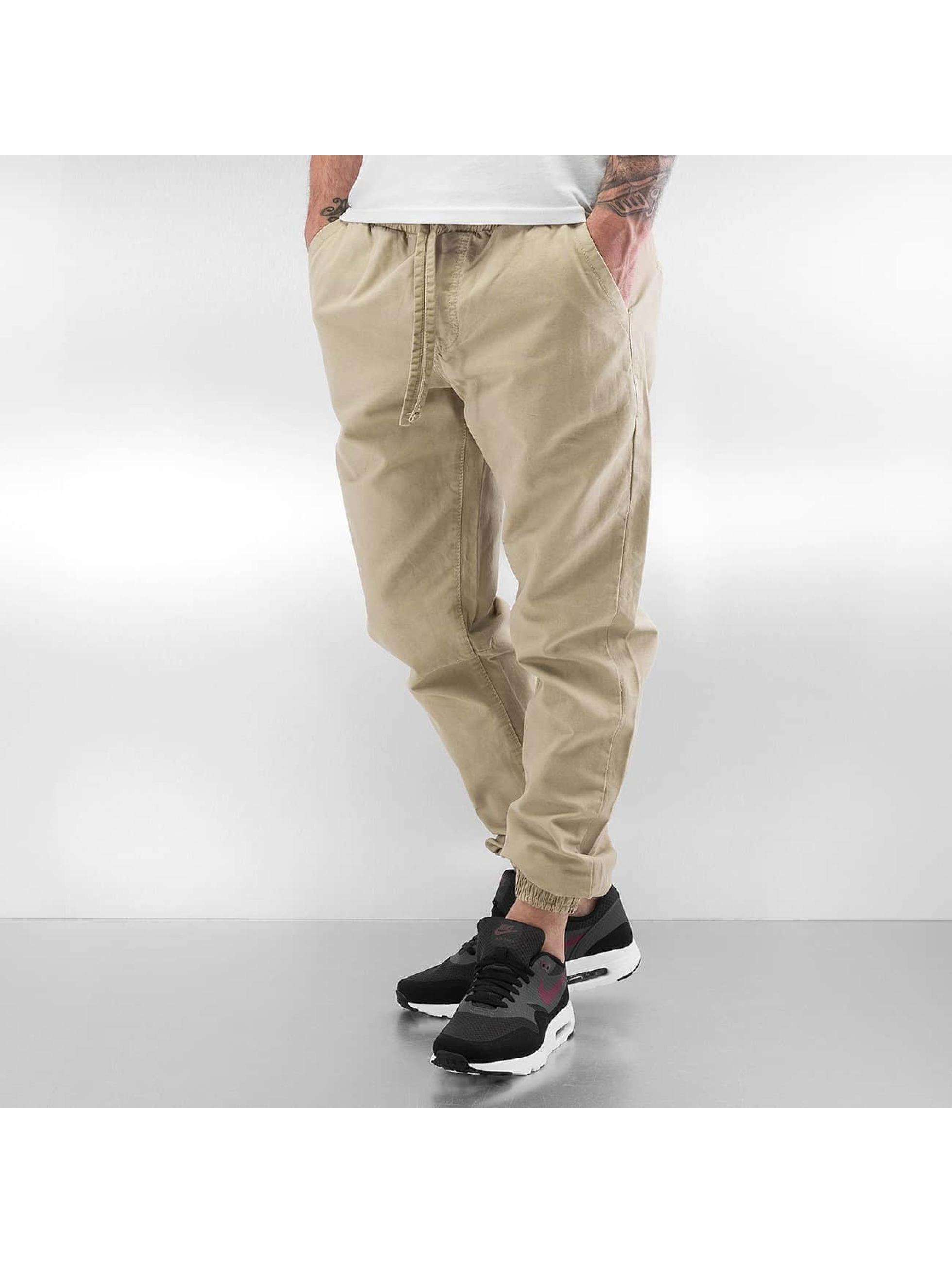 Urban Classics Спортивные брюки Washed Canvas бежевый