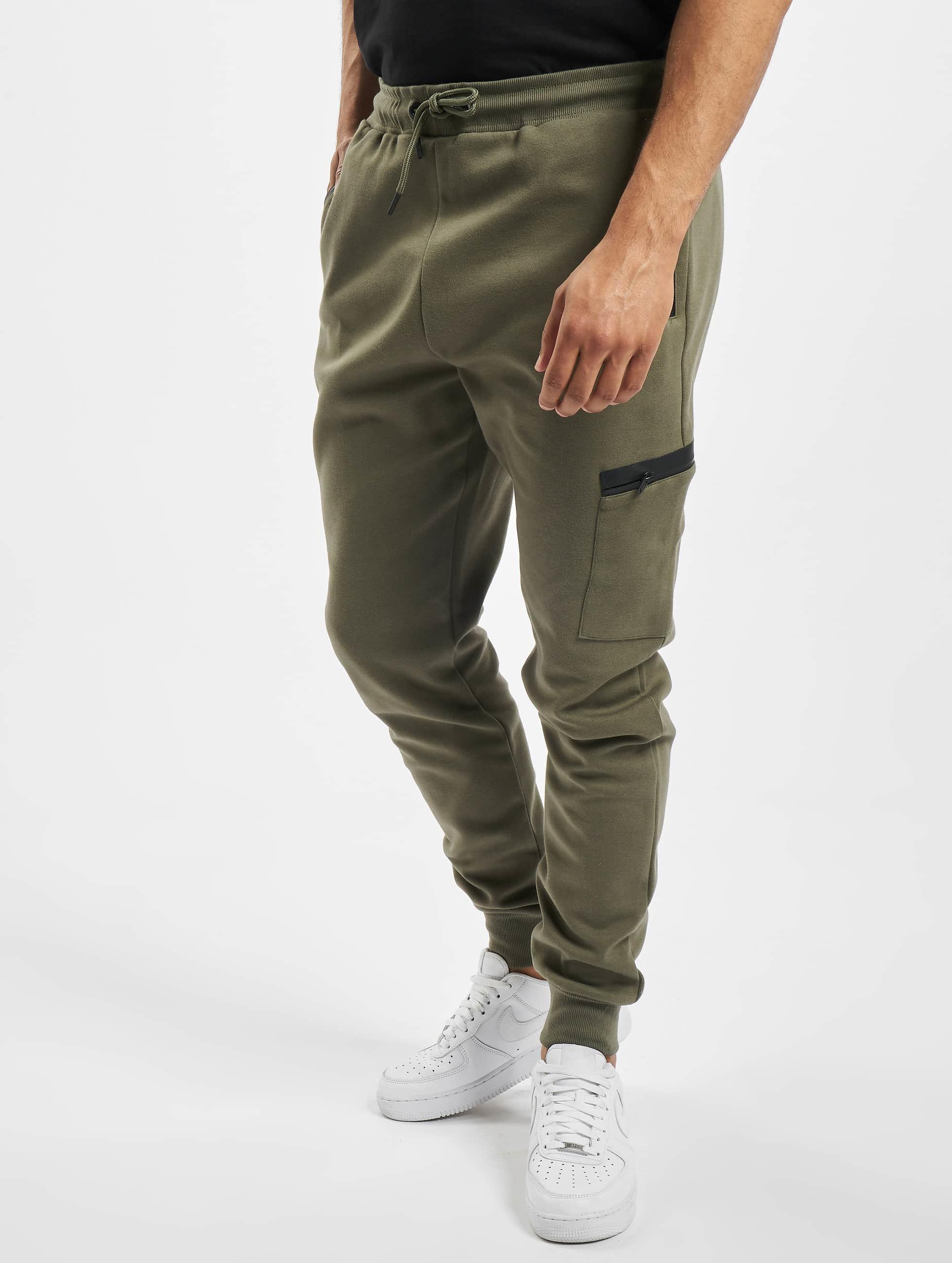 Urban Classics Спортивные брюки Athletic Interlock оливковый
