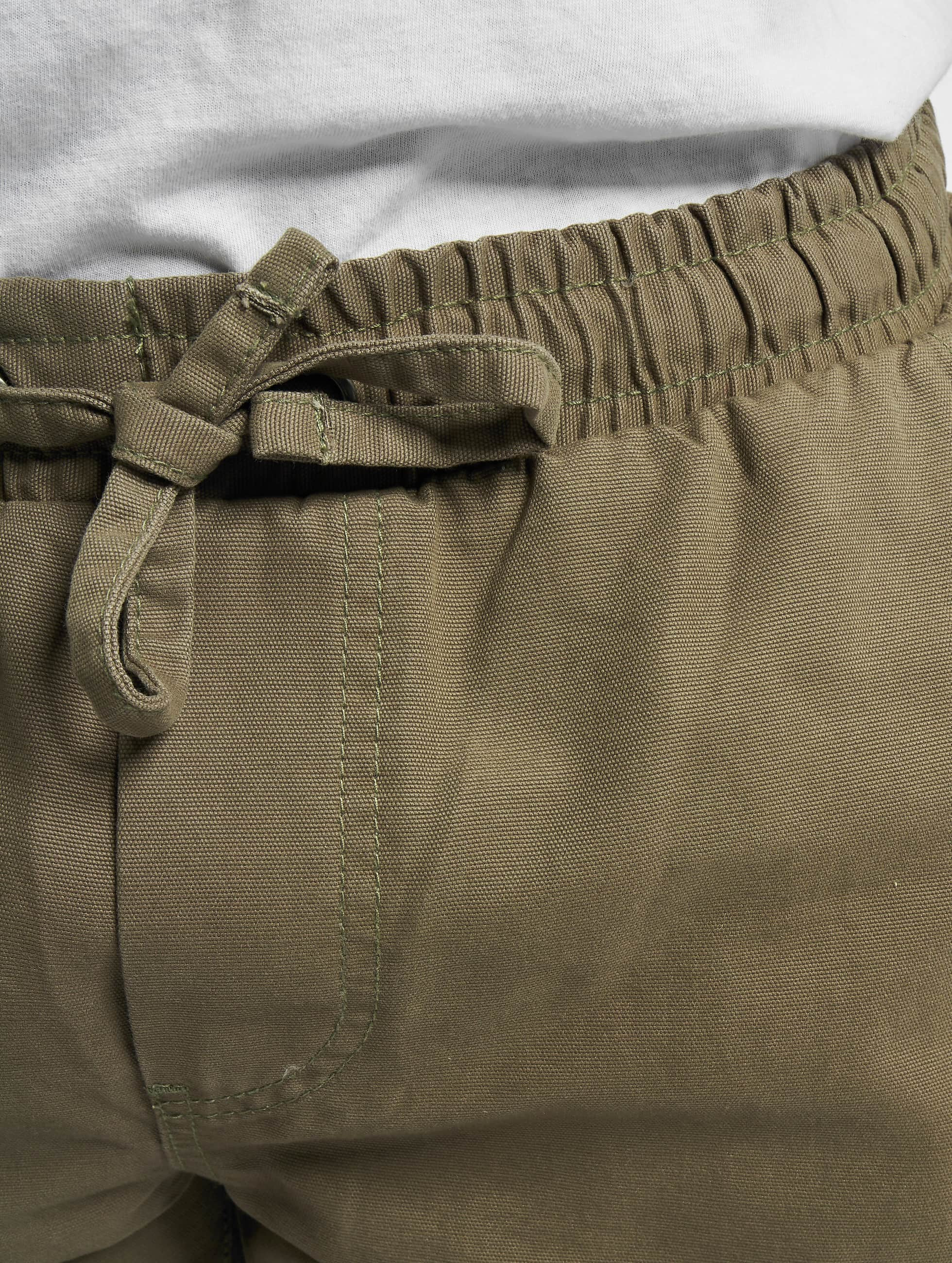 Urban Classics Спортивные брюки Washed Canvas оливковый