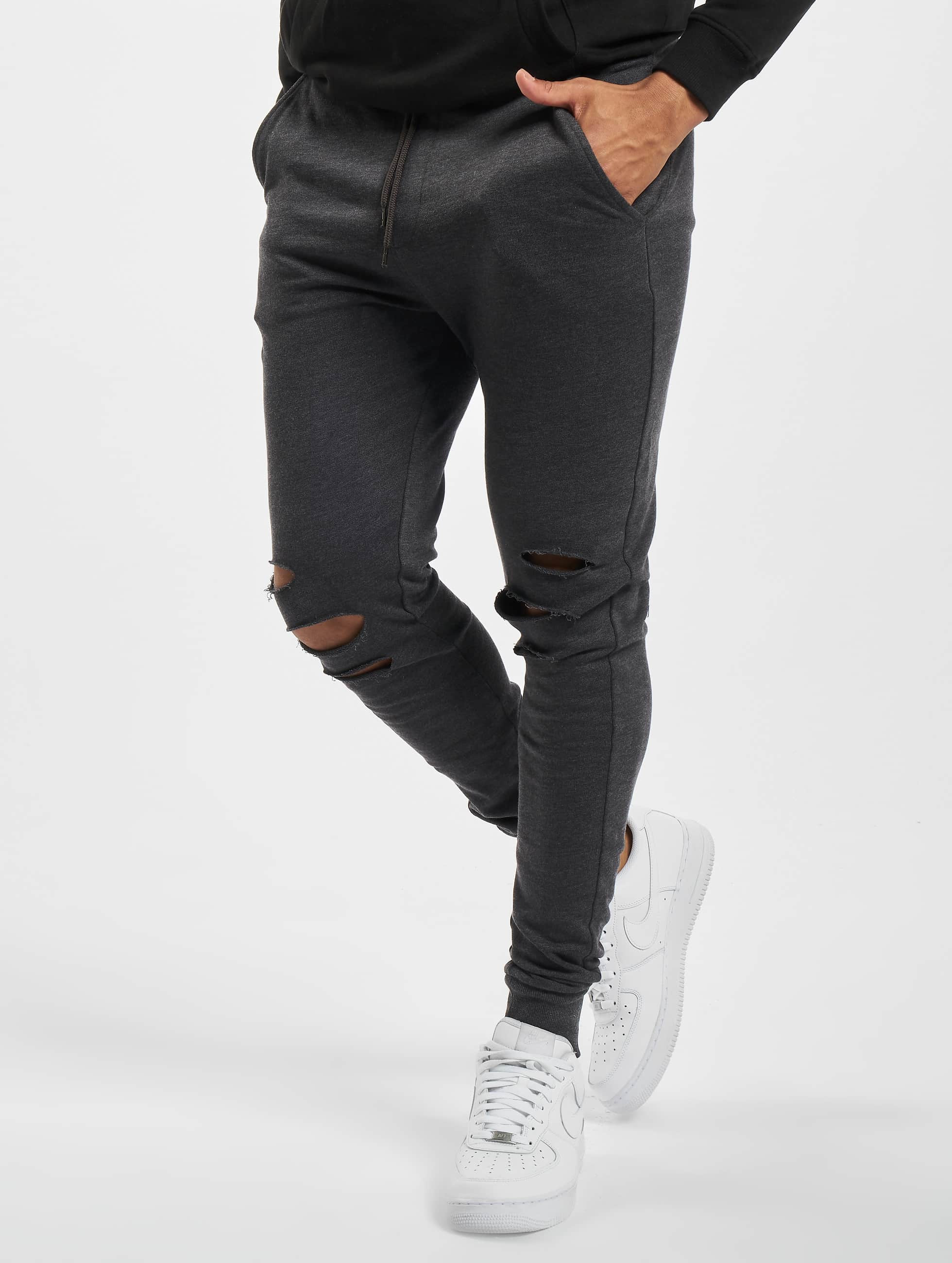Urban Classics Спортивные брюки Cutted серый