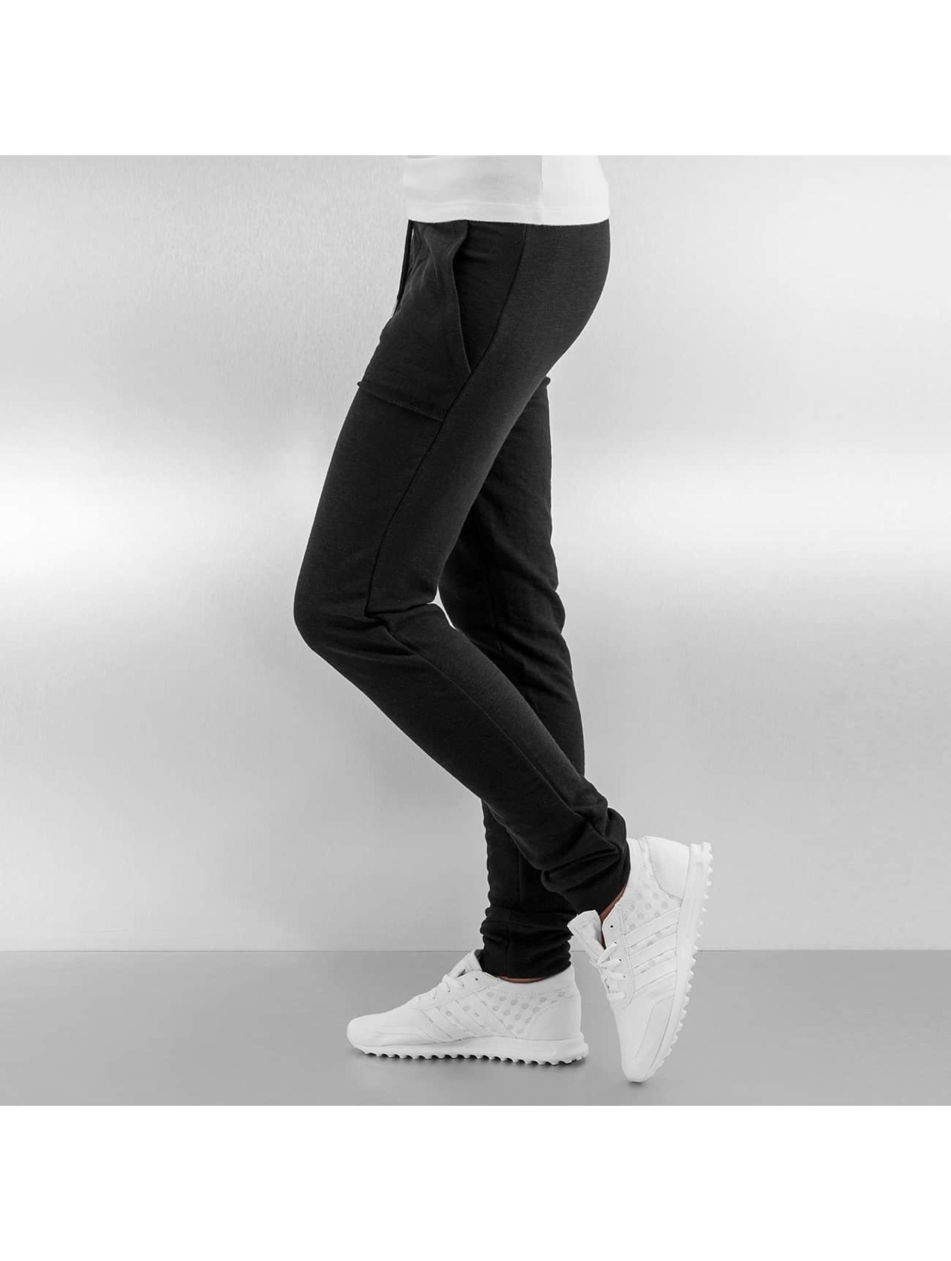 Urban Classics Спортивные брюки Fitted Slub Terry черный