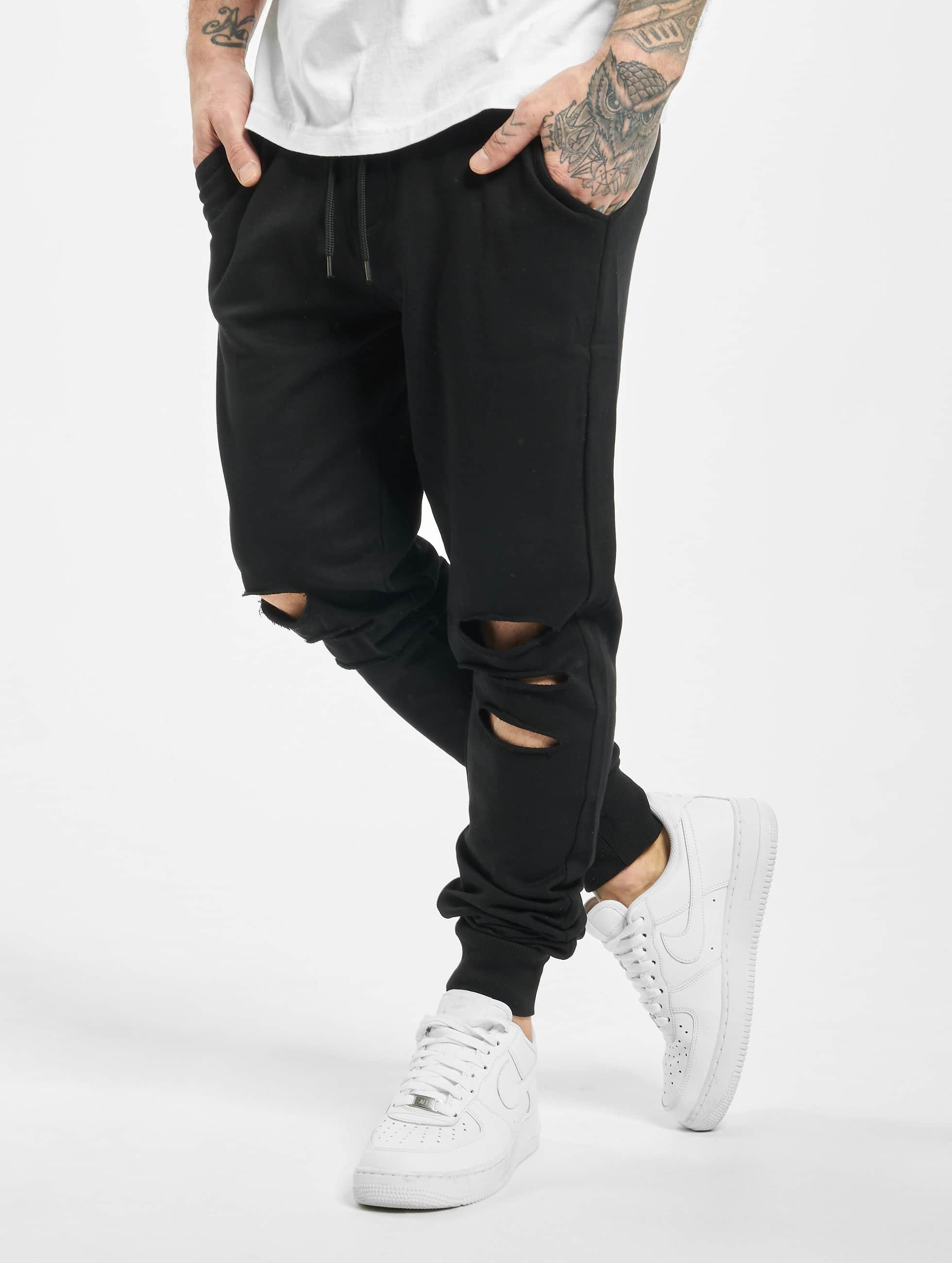 Urban Classics Спортивные брюки Cutted Terry черный
