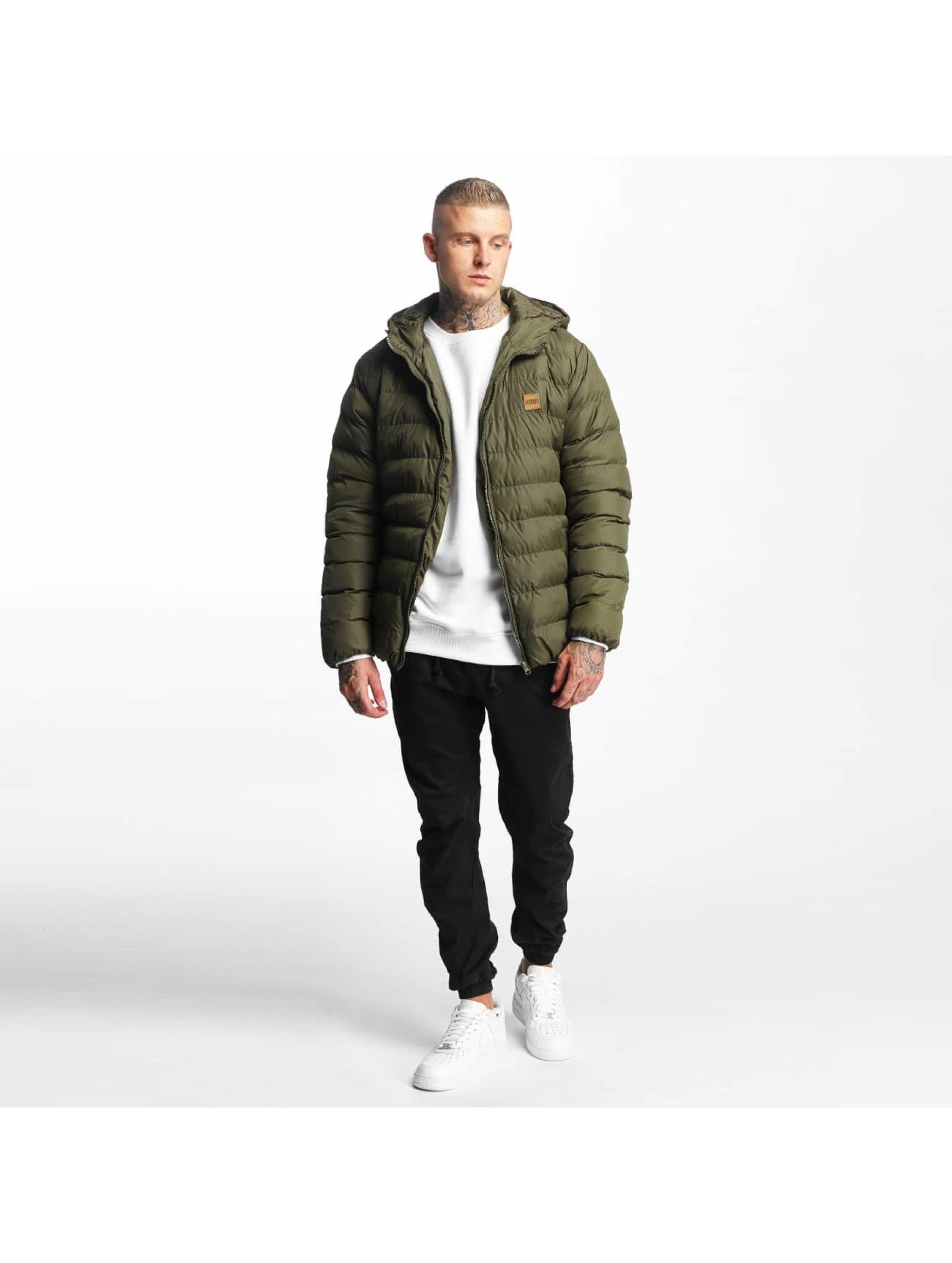 Urban Classics Стеганая куртка Basic Bubble оливковый