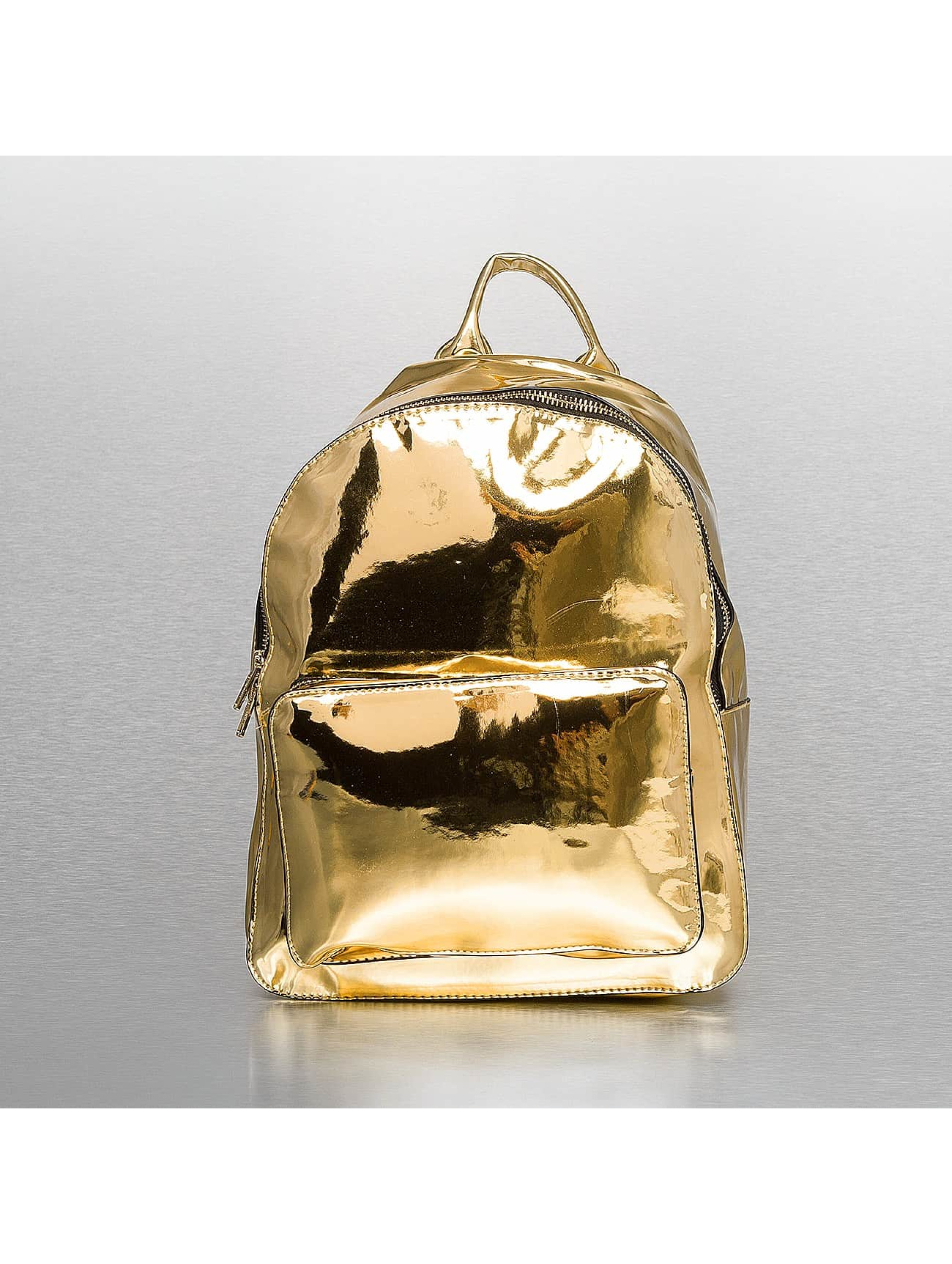 Urban Classics Backpack Midi Metallic gold colored