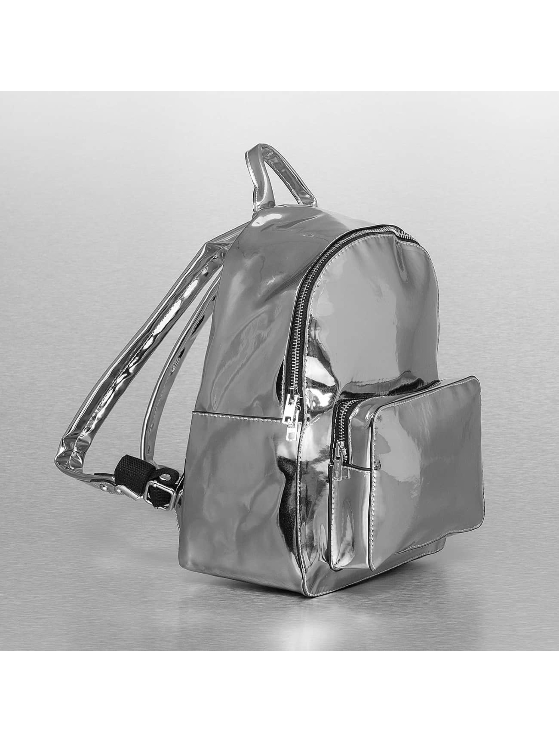 Urban Classics Backpack Midi Metallic silver colored