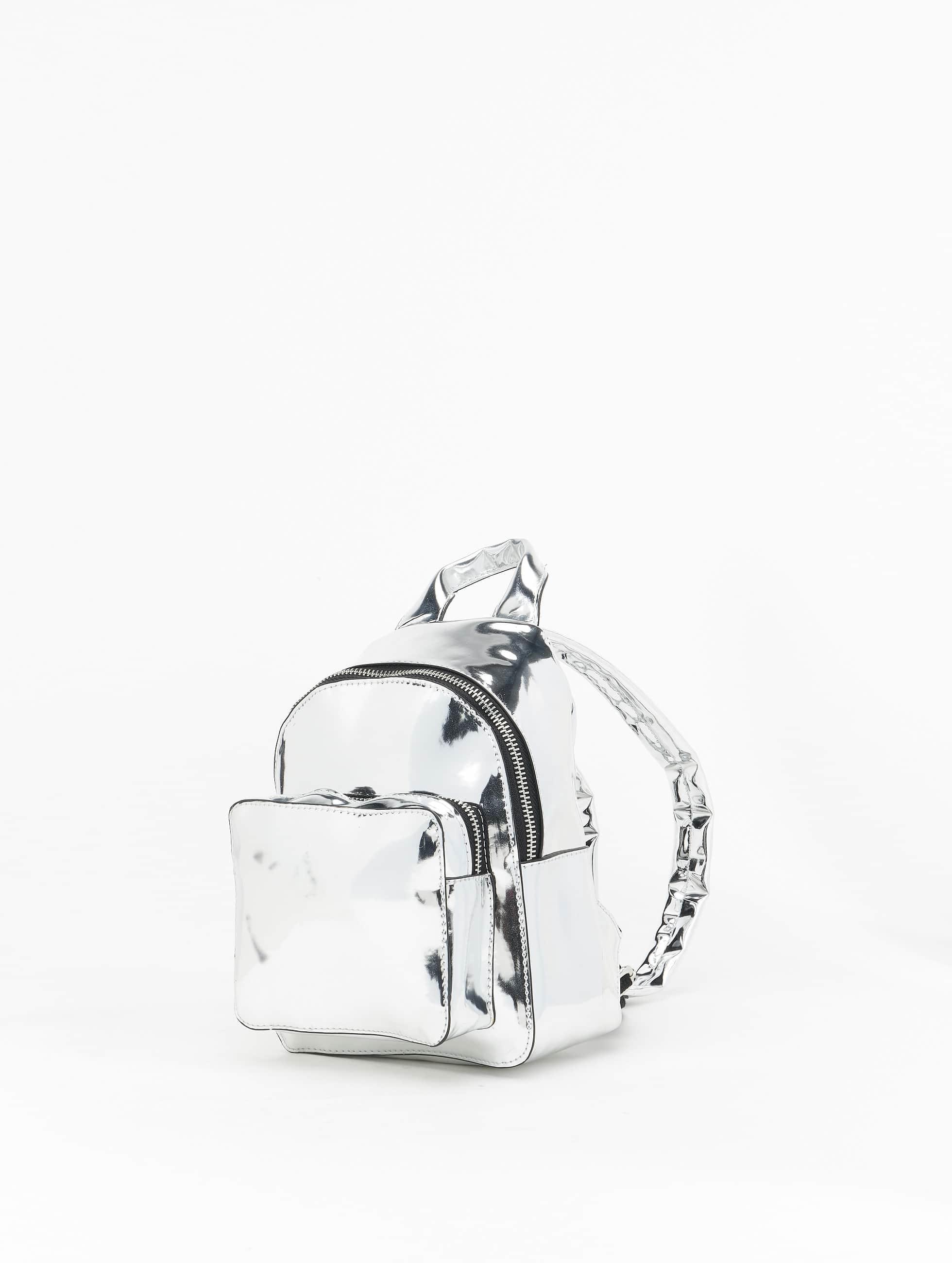 Urban Classics Backpack Mini Metallic silver colored