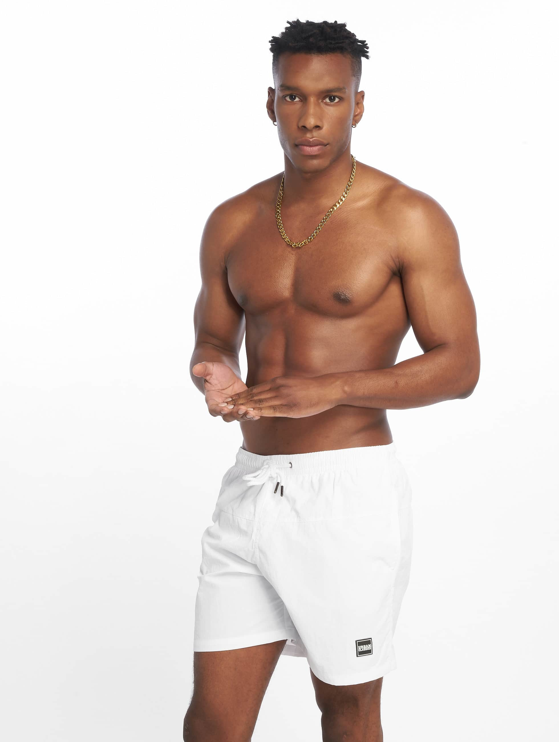Urban Classics Block Swim Shorts White