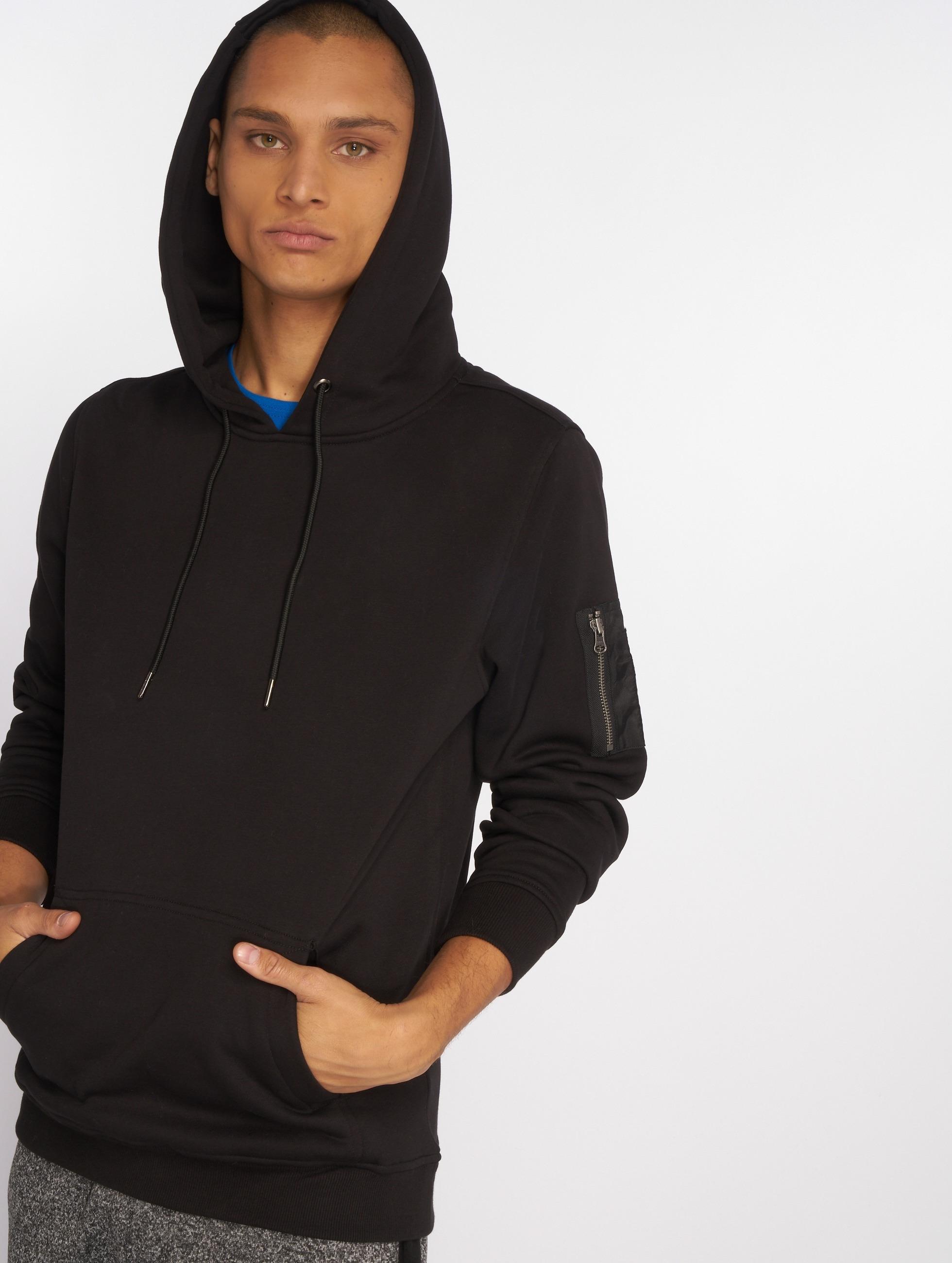 Urban Classics Bluzy z kapturem Sweat Bomber czarny