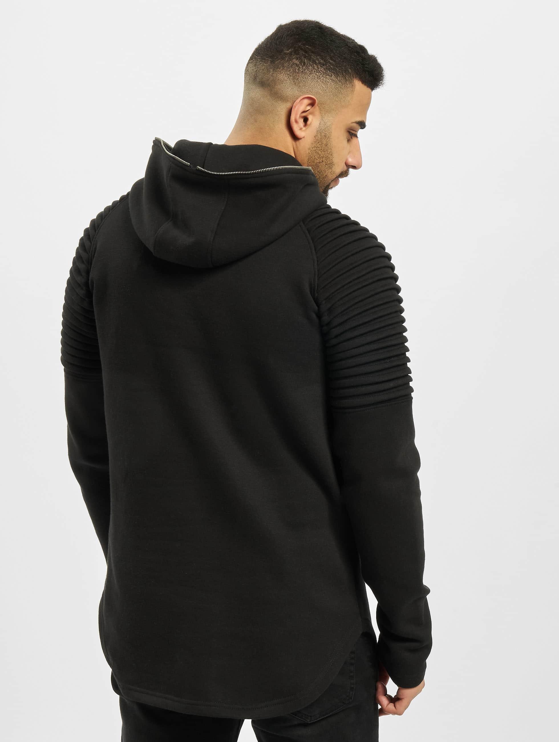 Urban Classics Bluzy z kapturem Pleat Sleeves Terry czarny