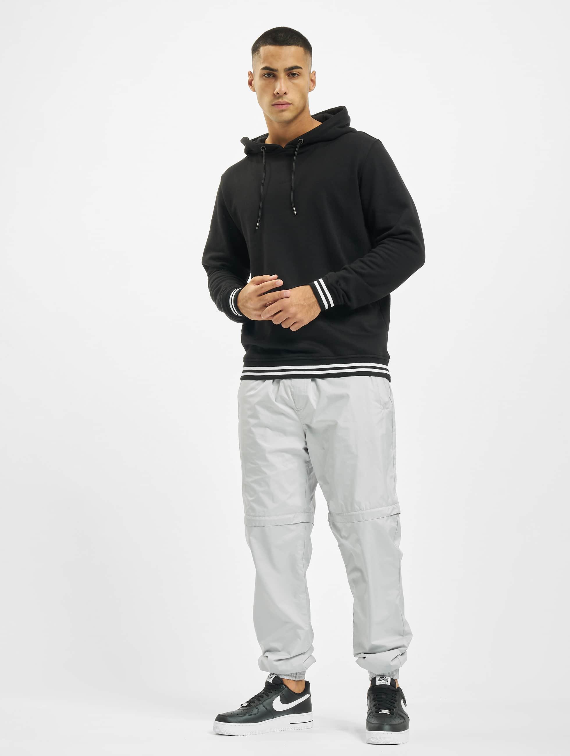 Urban Classics Bluzy z kapturem College czarny