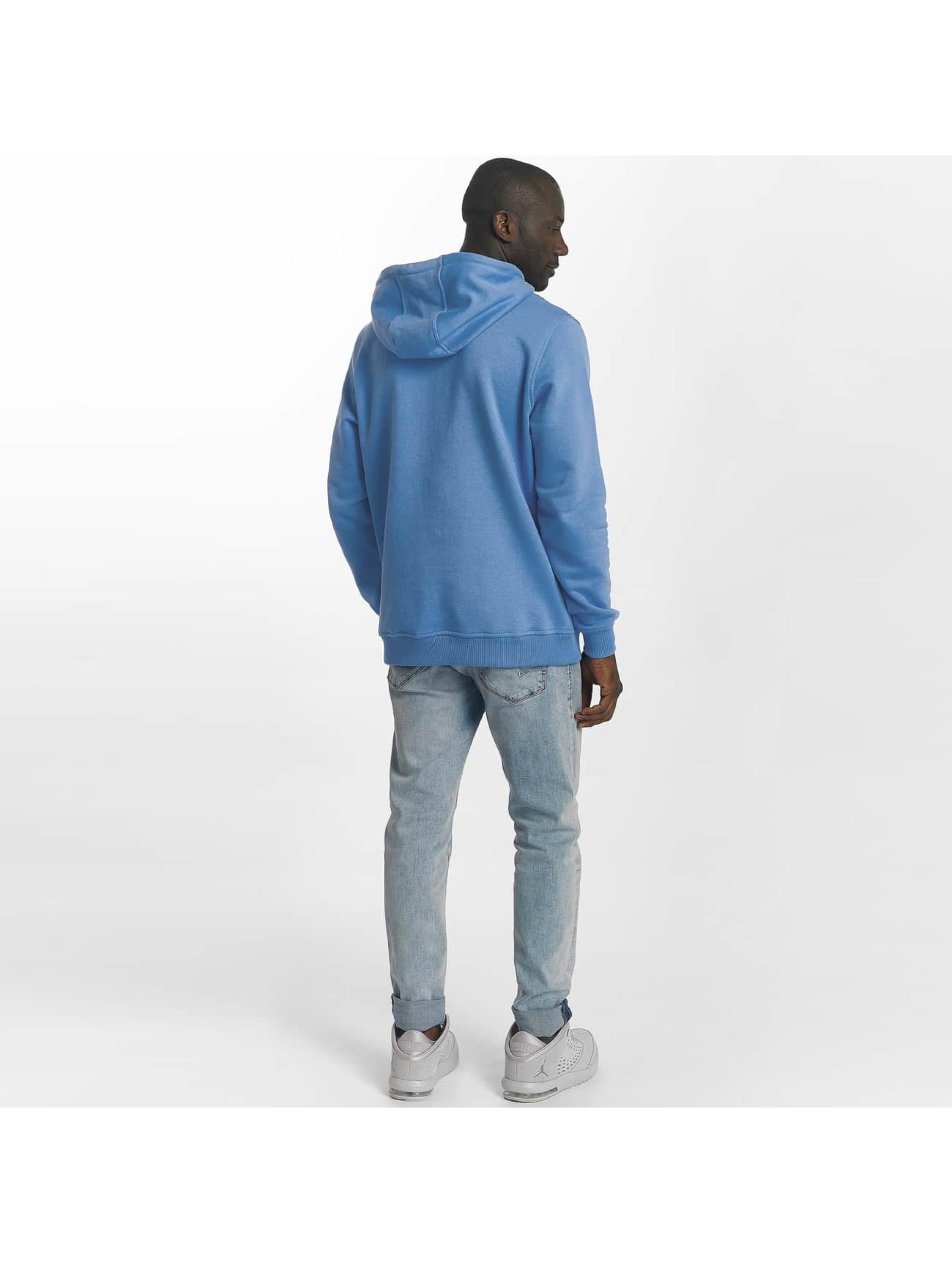 Urban Classics Bluzy z kapturem Basic niebieski