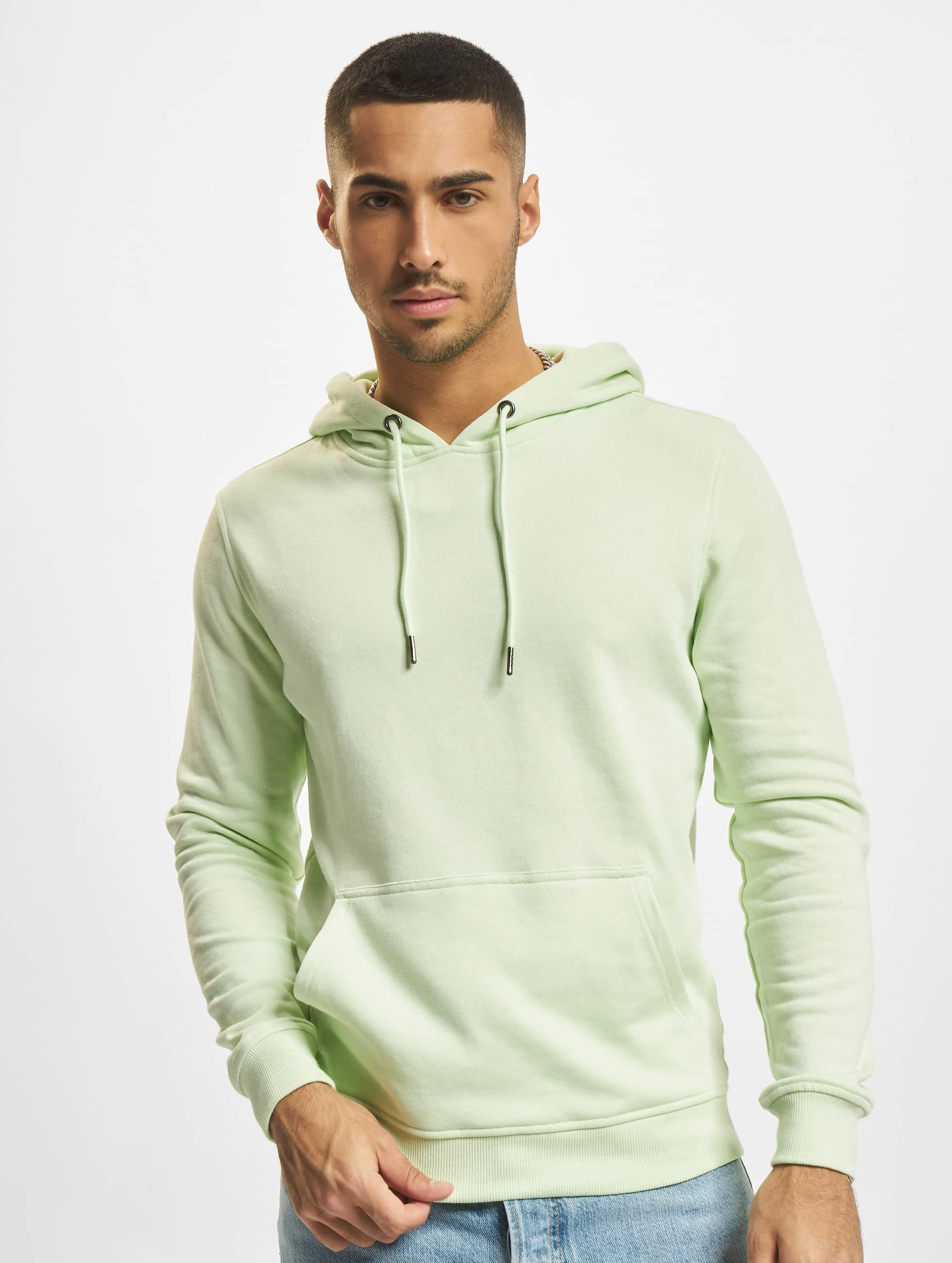 Urban Classics Bluzy z kapturem Basic zielony