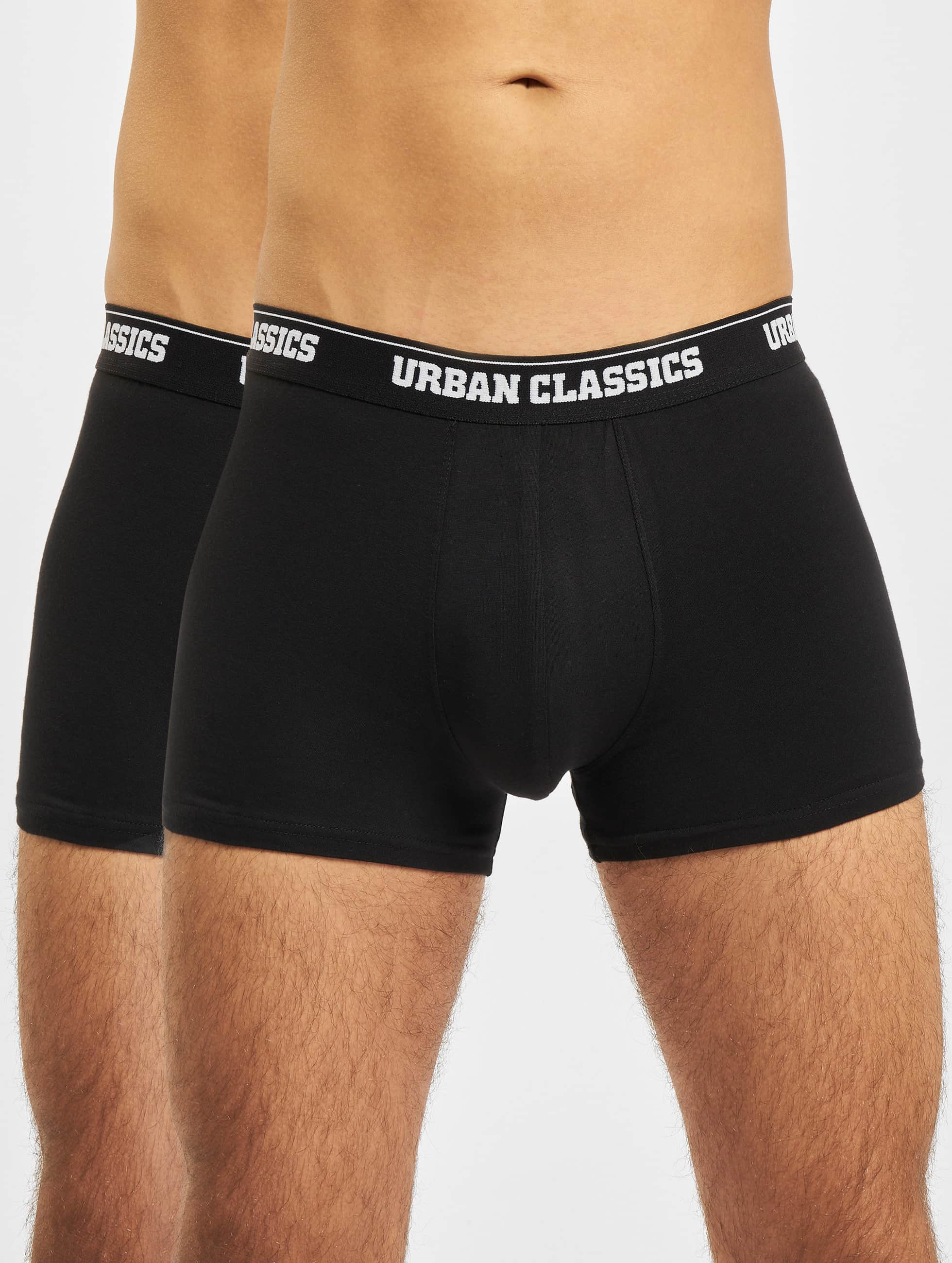 Urban Classics Bokserit Mens Double Pack musta