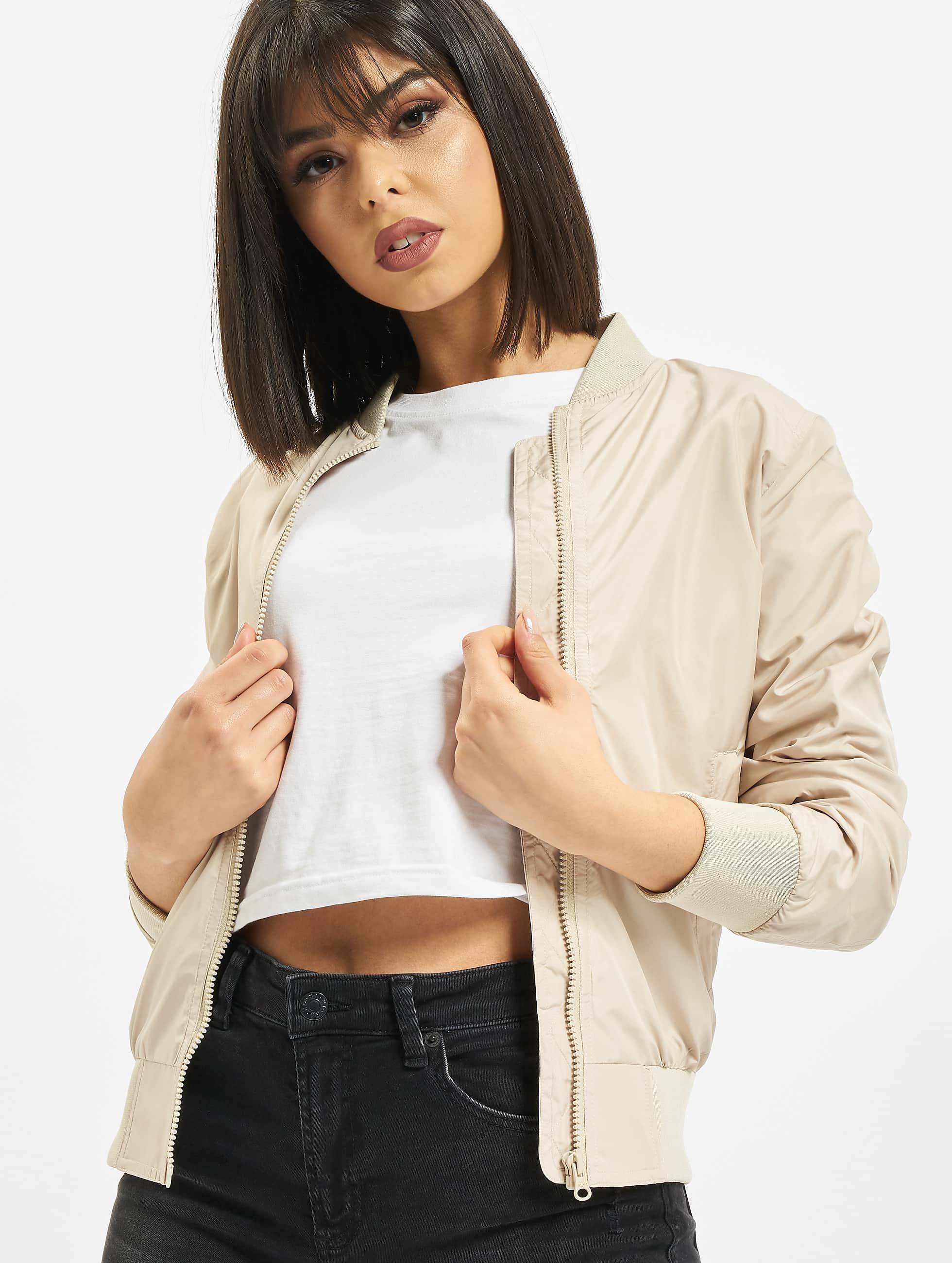 Urban Classics Bomber jacket Ladies Light beige