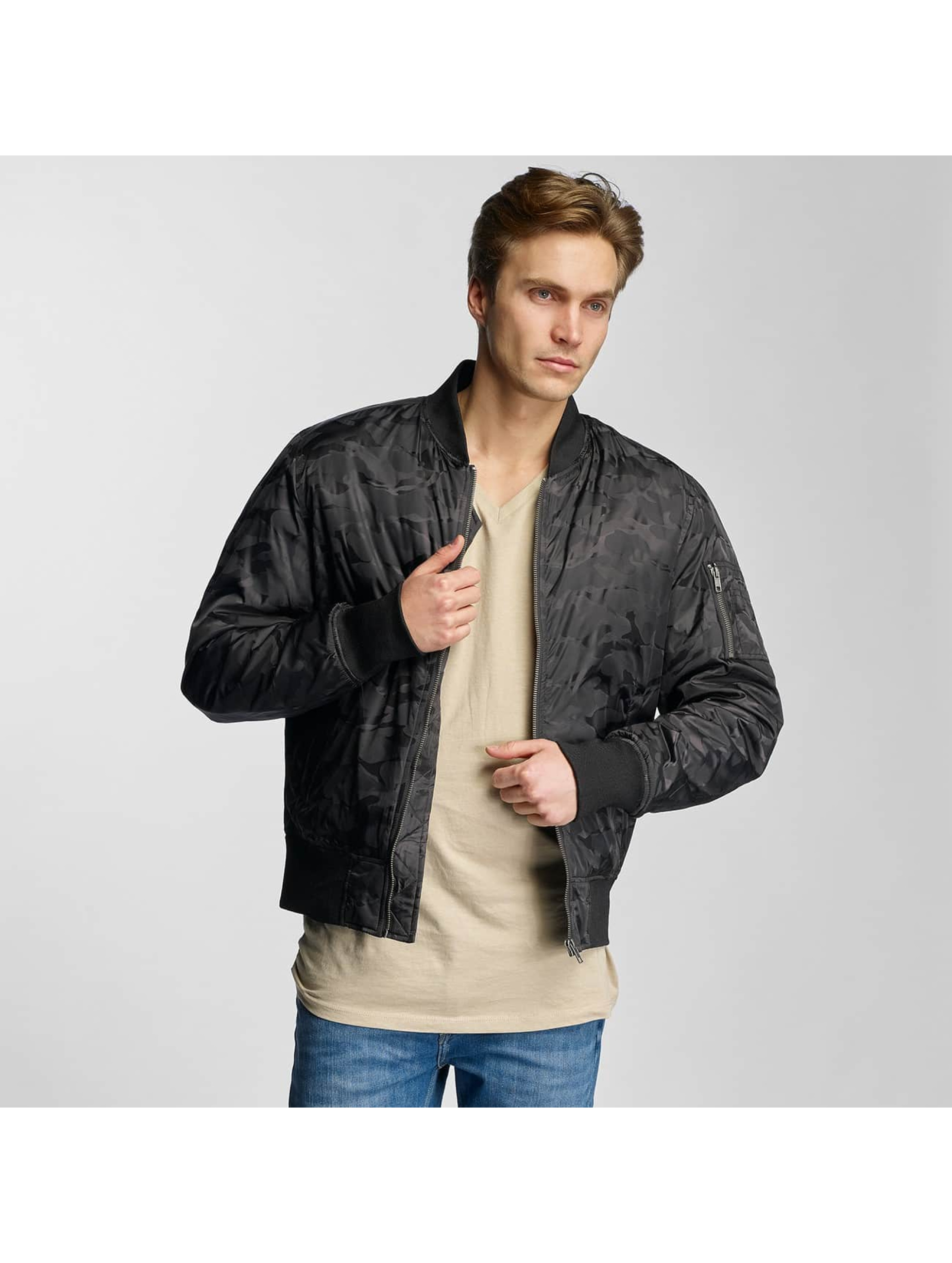 Urban Classics Bomber jacket Tonal Camo black