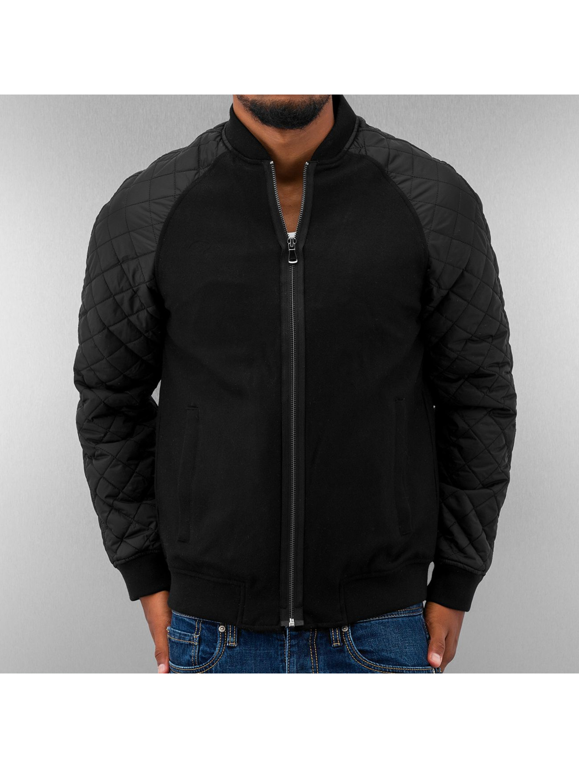 Urban Classics Bomber Diamond Nylon Wool noir