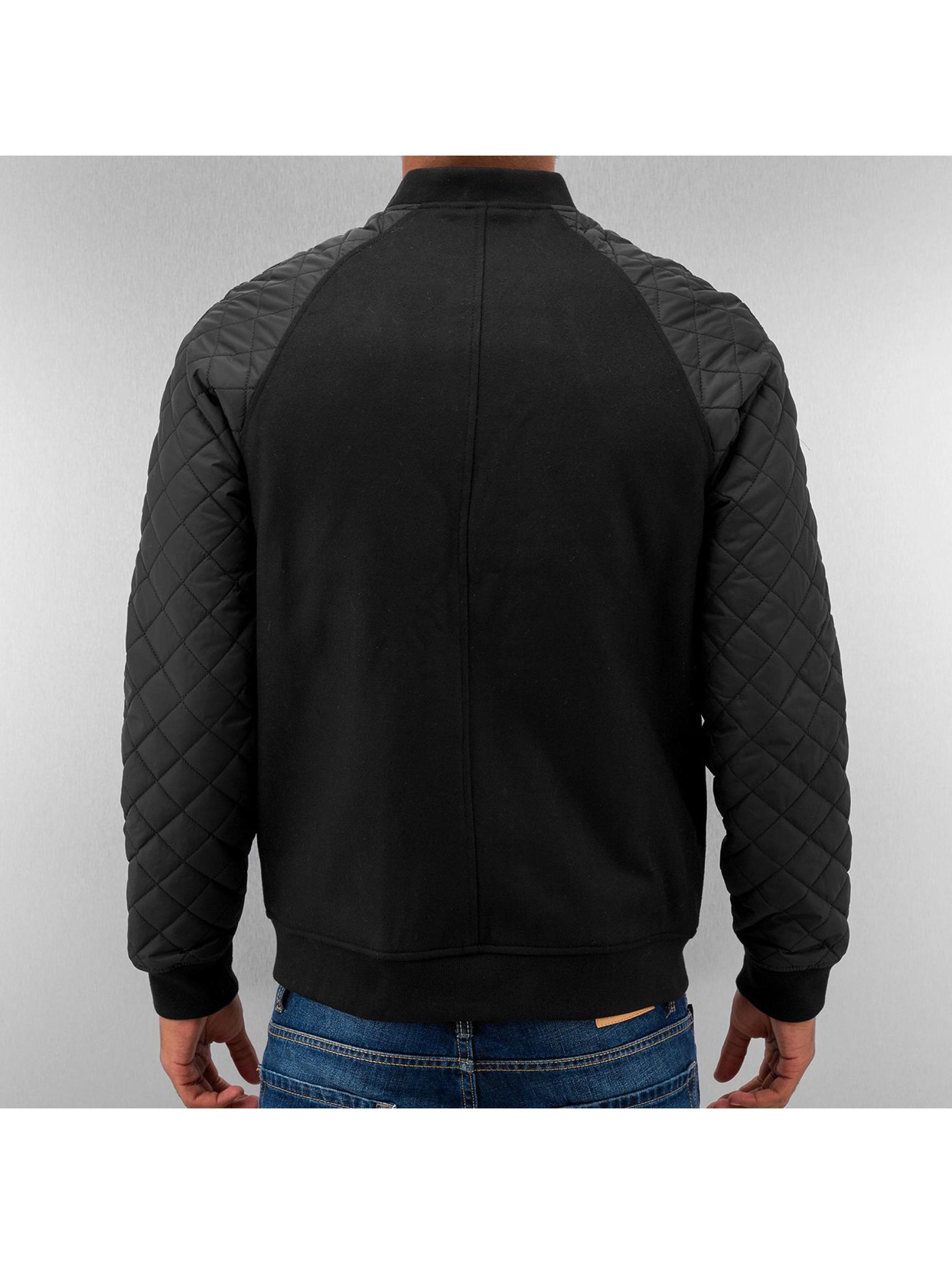 Urban Classics Bomberjacke Diamond Nylon Wool schwarz
