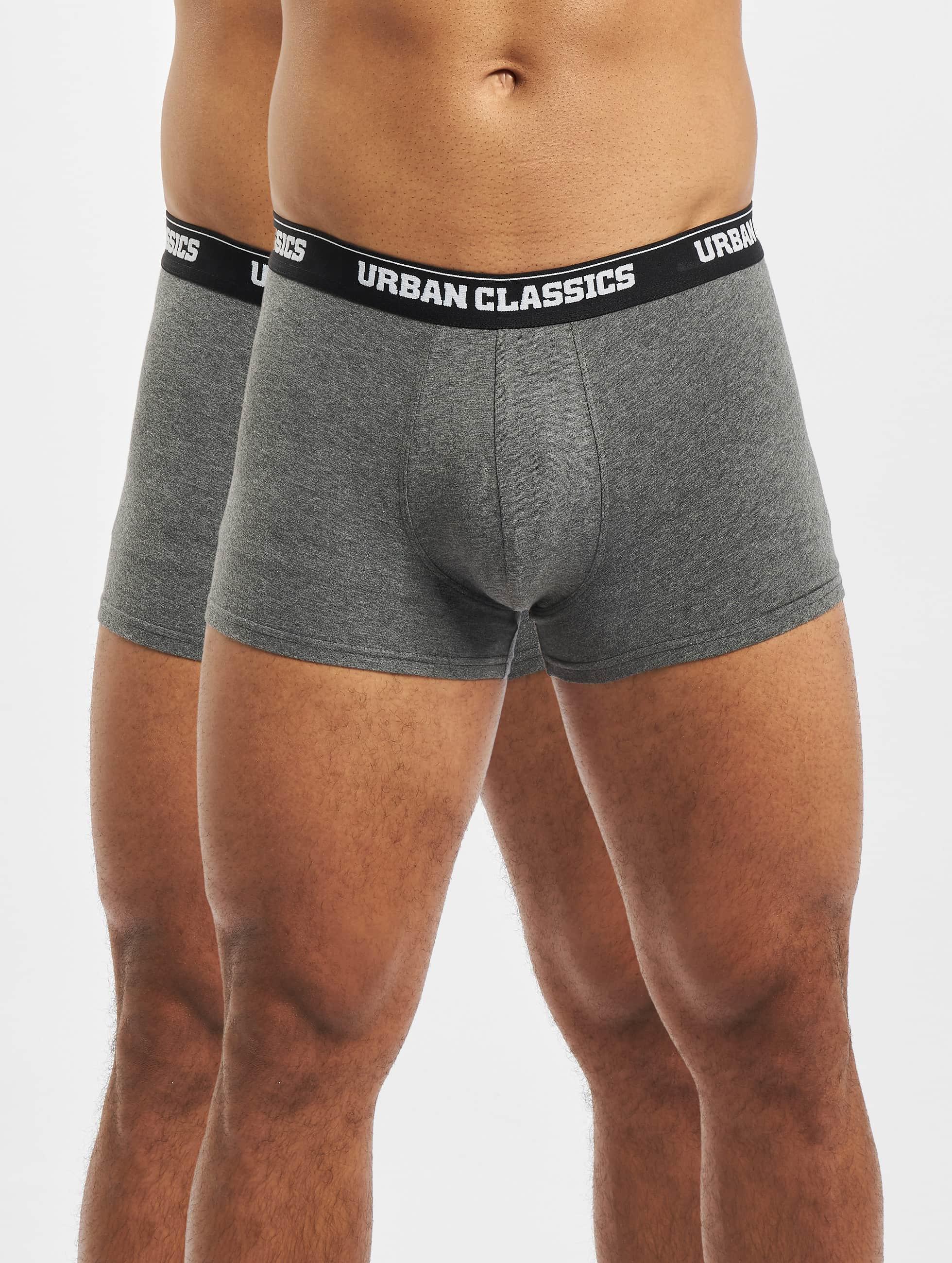 Urban Classics Boxershorts Mens Double Pack grau