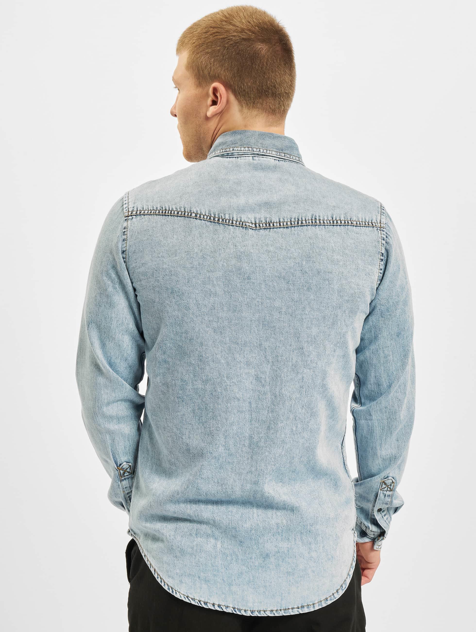 Urban Classics Camisa Denim Pocket azul