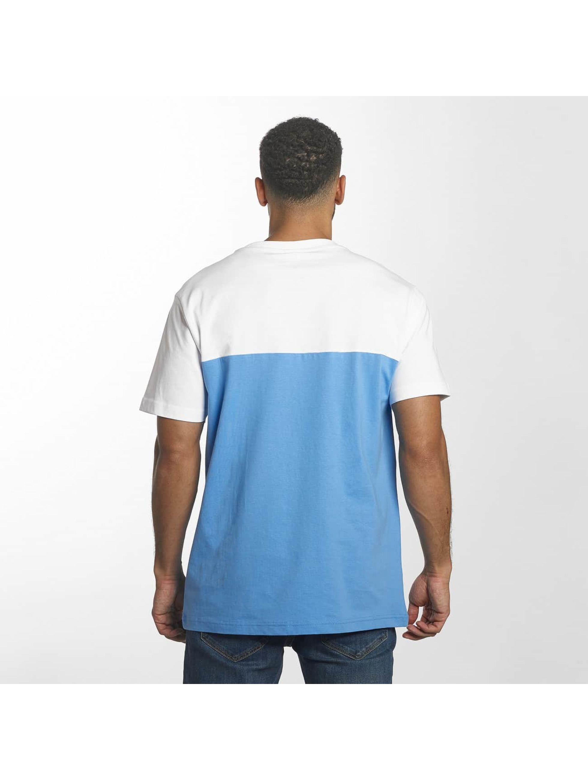 Urban Classics Camiseta Color Block Summer Pocket azul