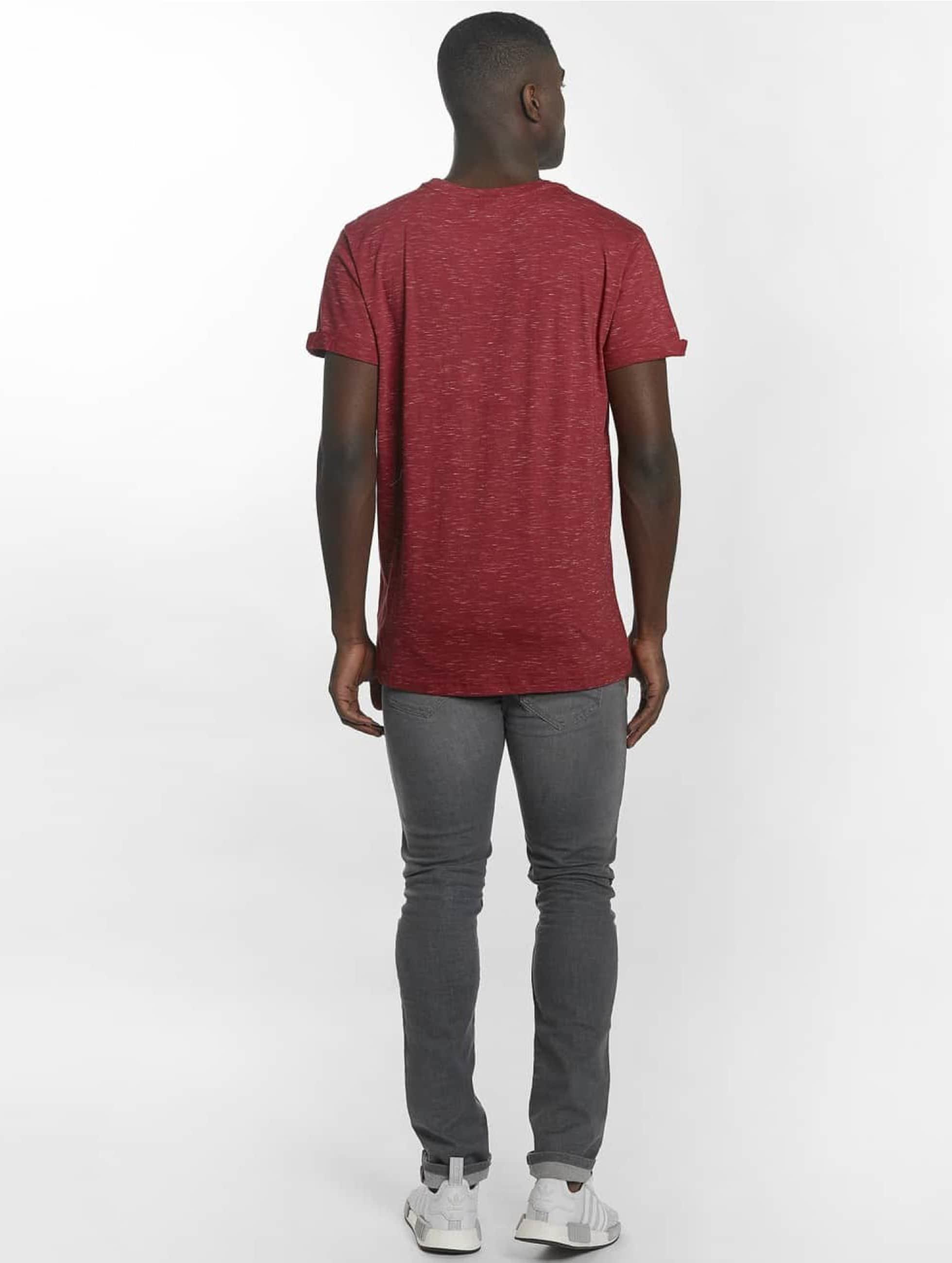 Urban Classics Camiseta Space Dye Turnup rojo