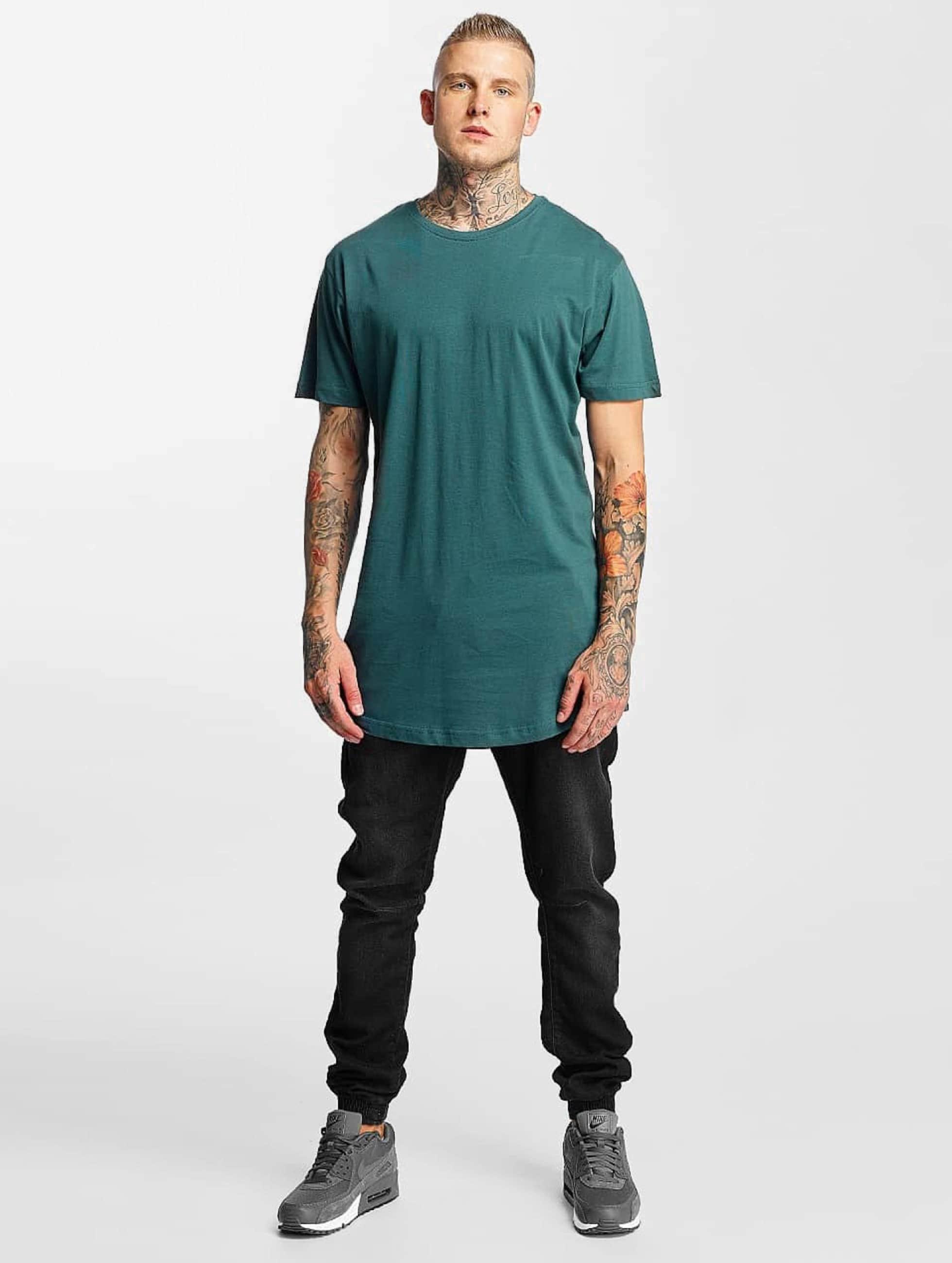 Urban Classics Camiseta Shaped Long turquesa