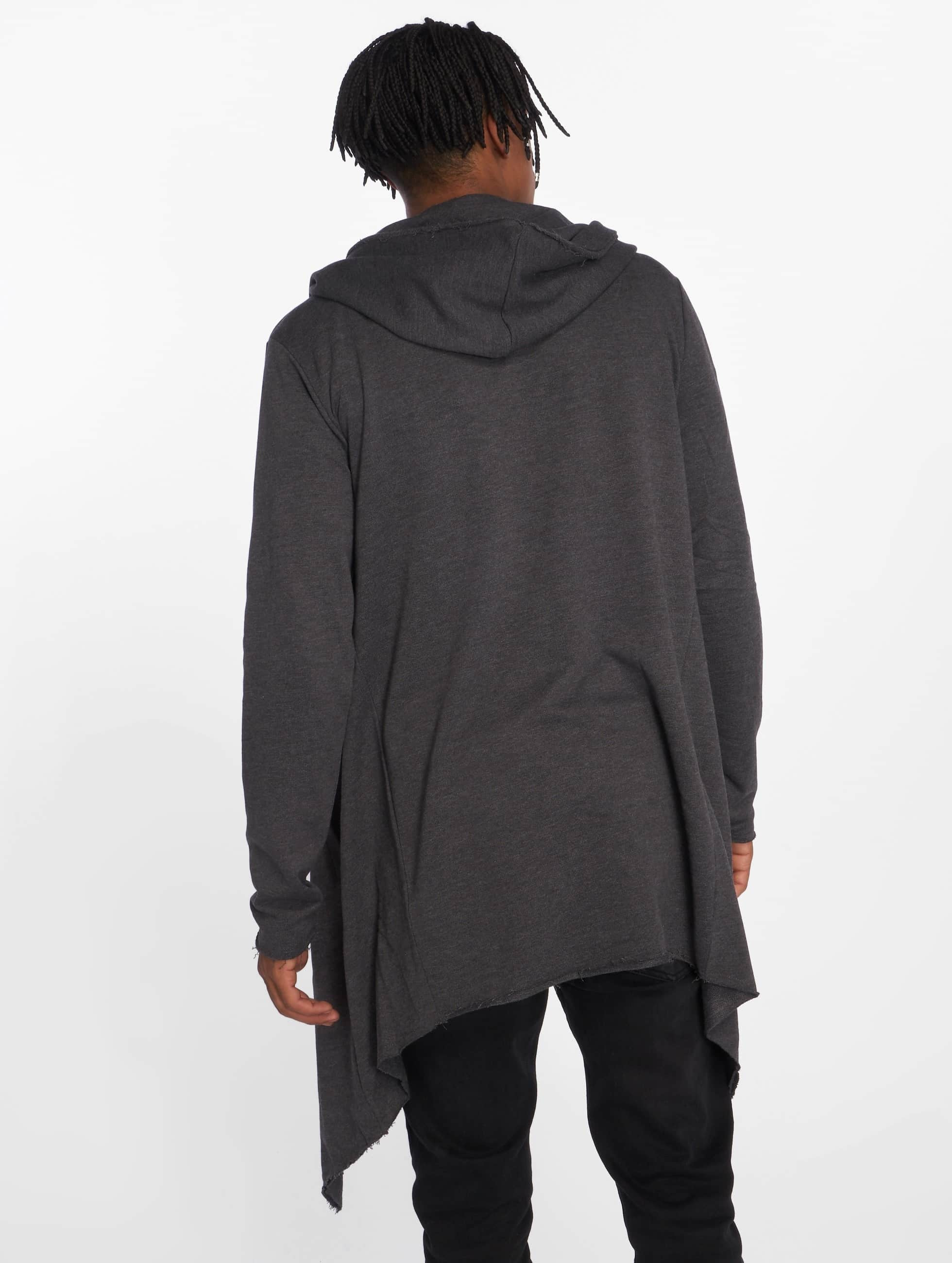 Urban Classics Cardigan Long Hooded gris