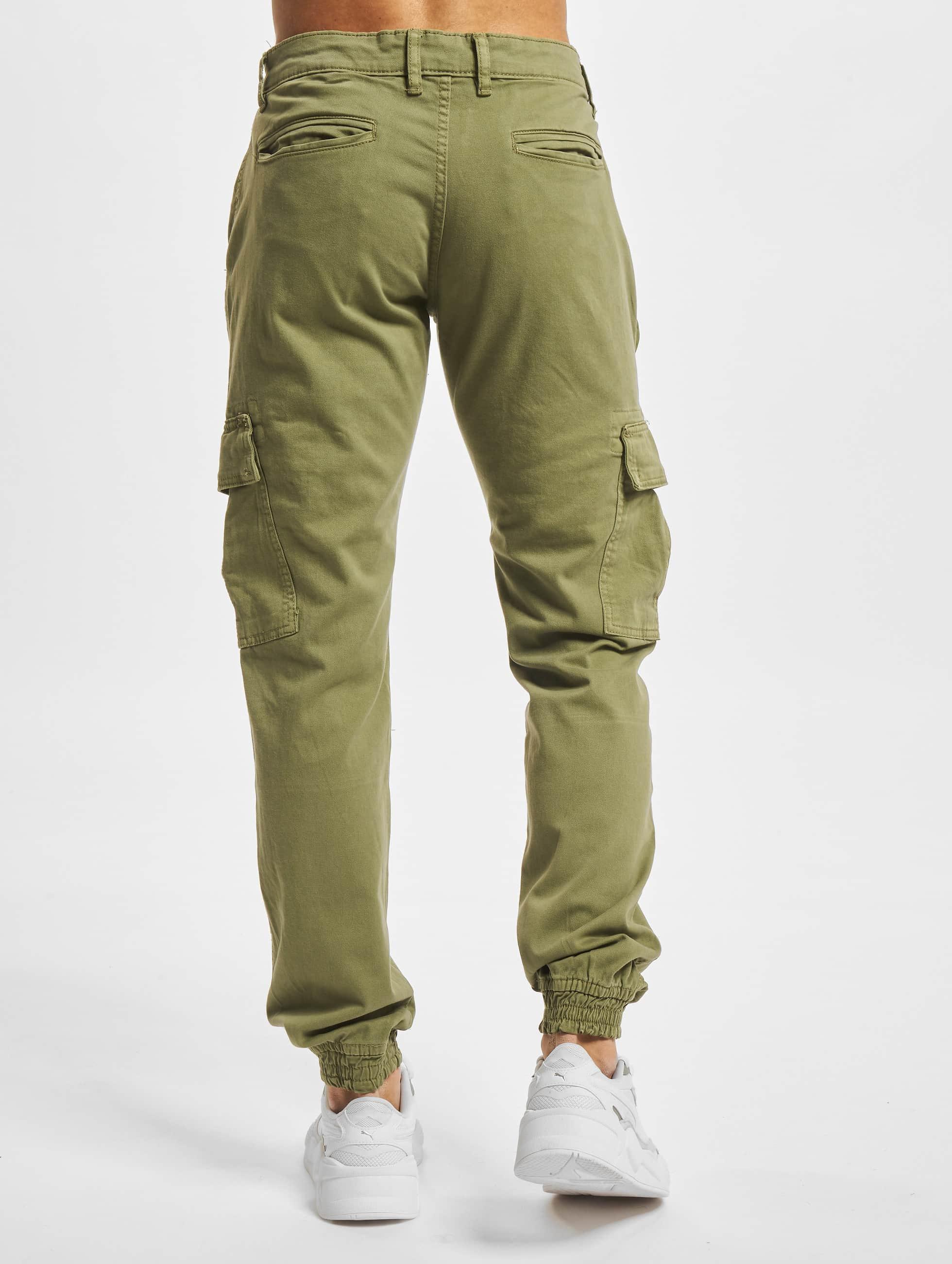 Urban Classics Cargo pants Washed Cargo Twill Jogging oliv