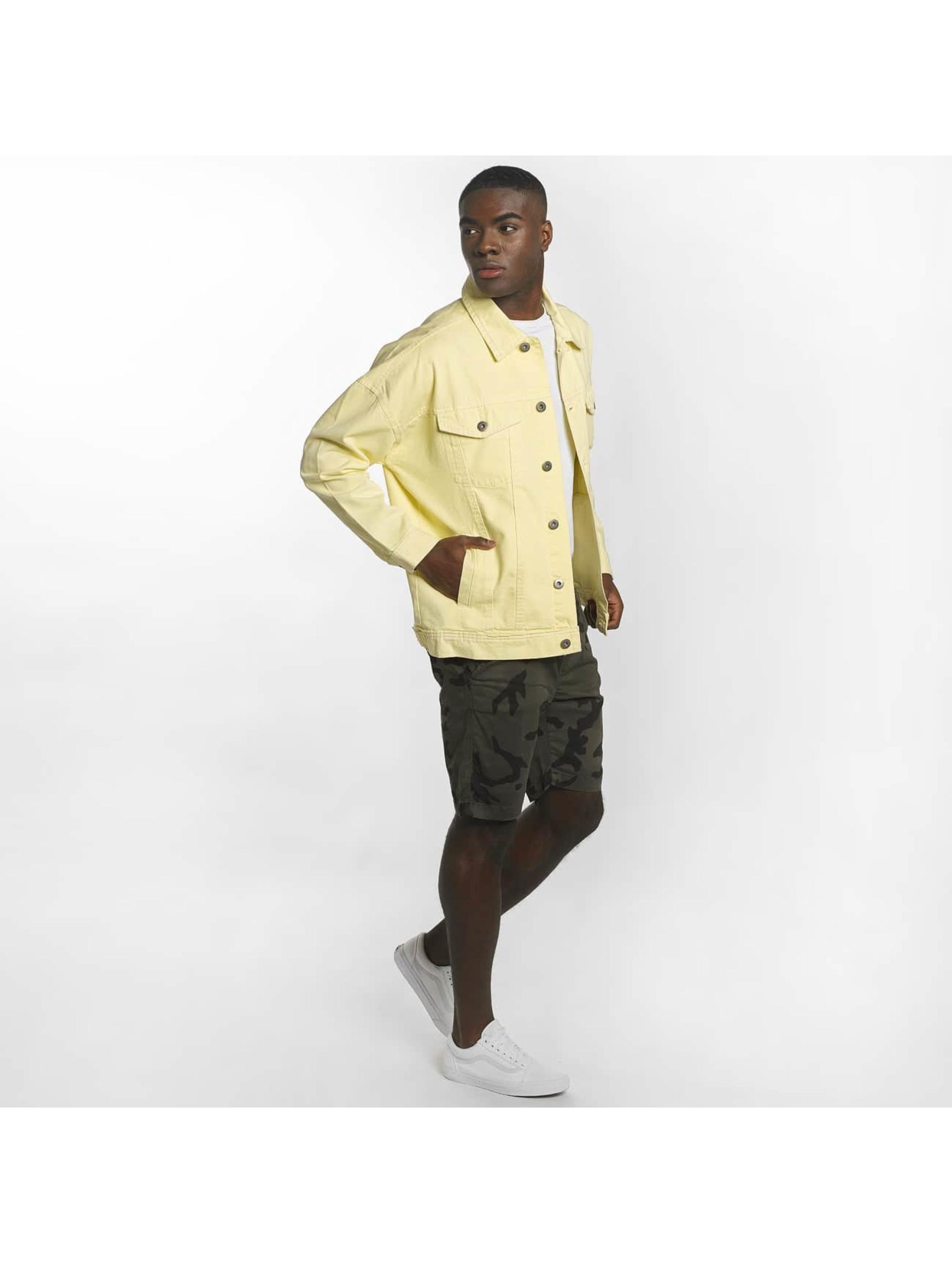 Urban Classics Chaqueta de entretiempo Garment Dye Oversize amarillo