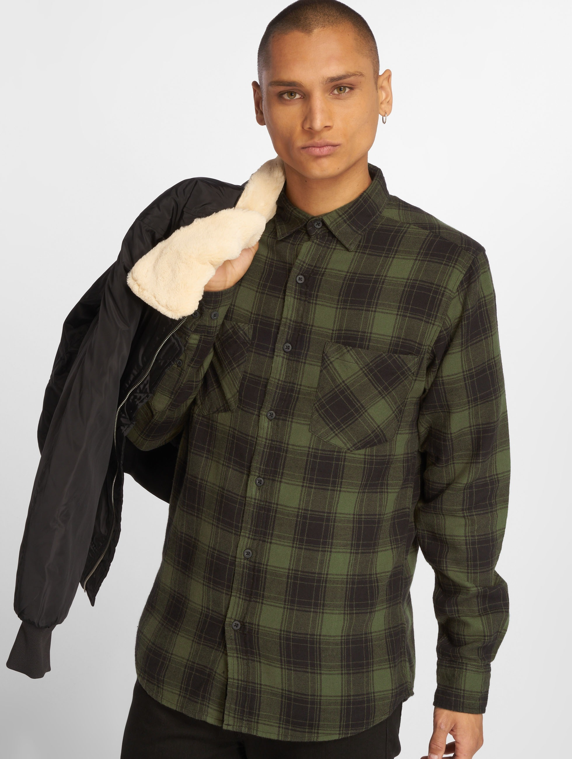 Urban Classics Chemise Checked Flanell 3 noir