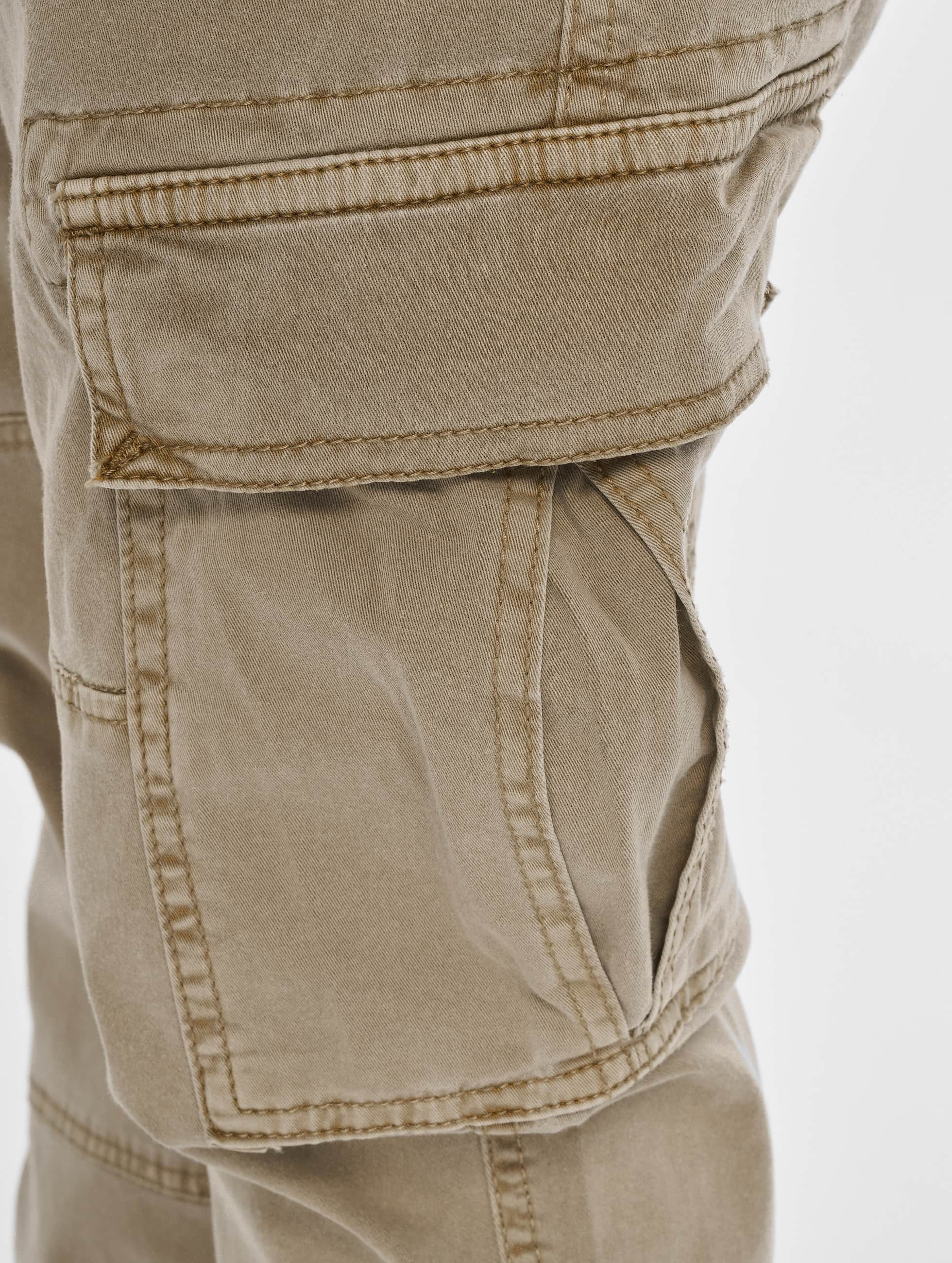 Urban Classics Chino bukser Washed Cargo Twill Jogging beige