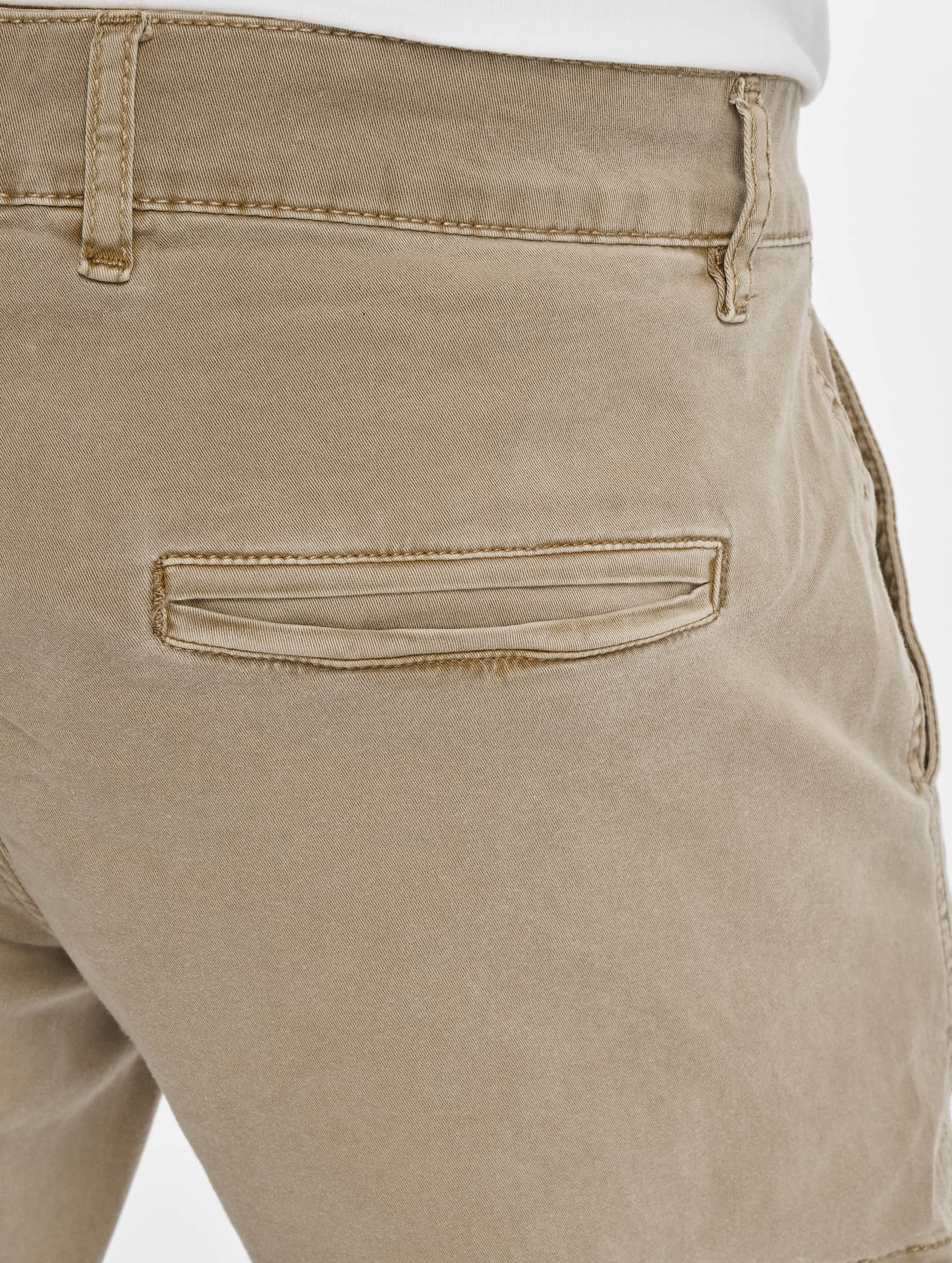 Urban Classics Chino bukser Washed Cargo Twill Jogging beige