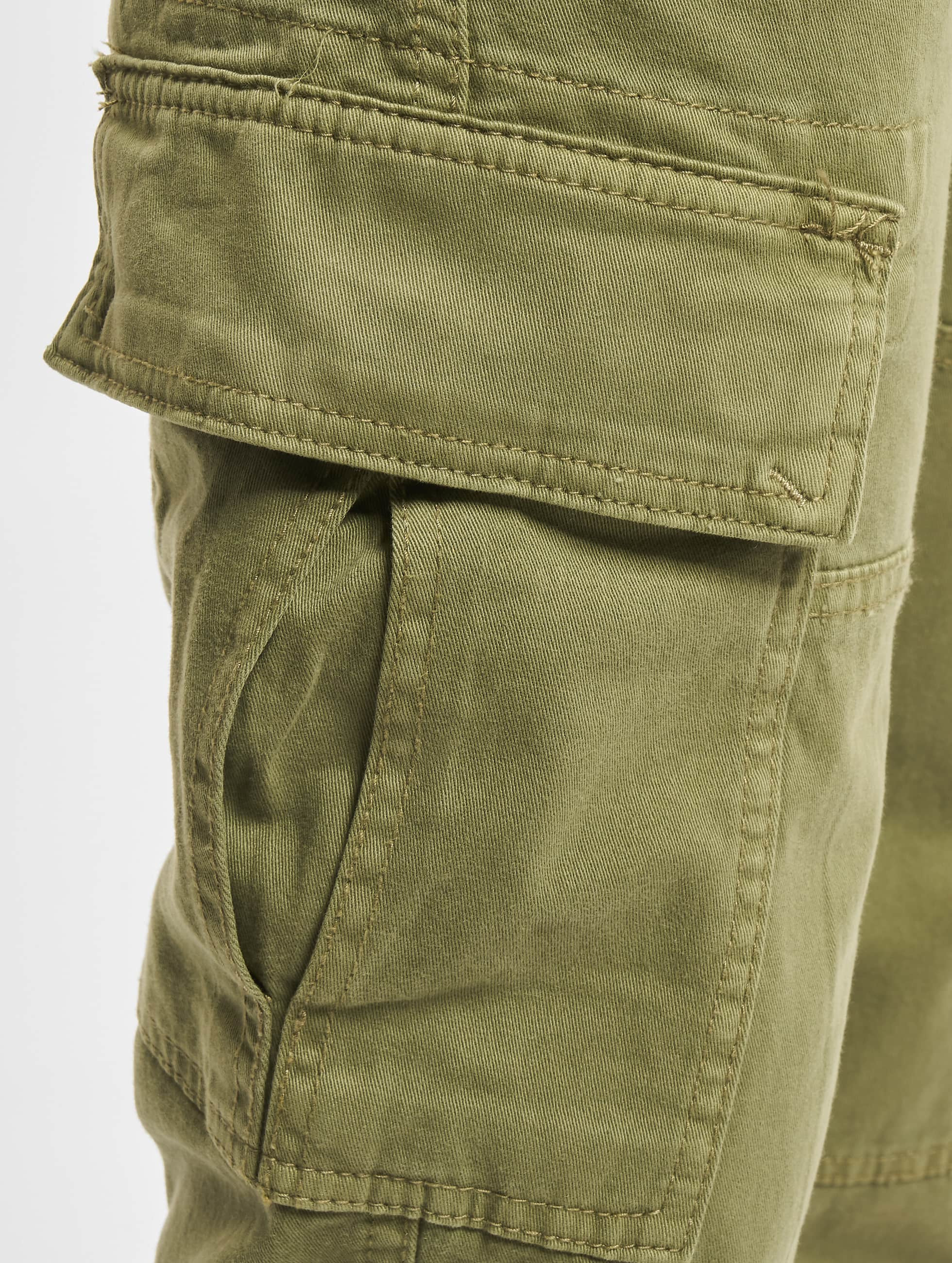 Urban Classics Chino bukser Washed Cargo Twill Jogging oliven
