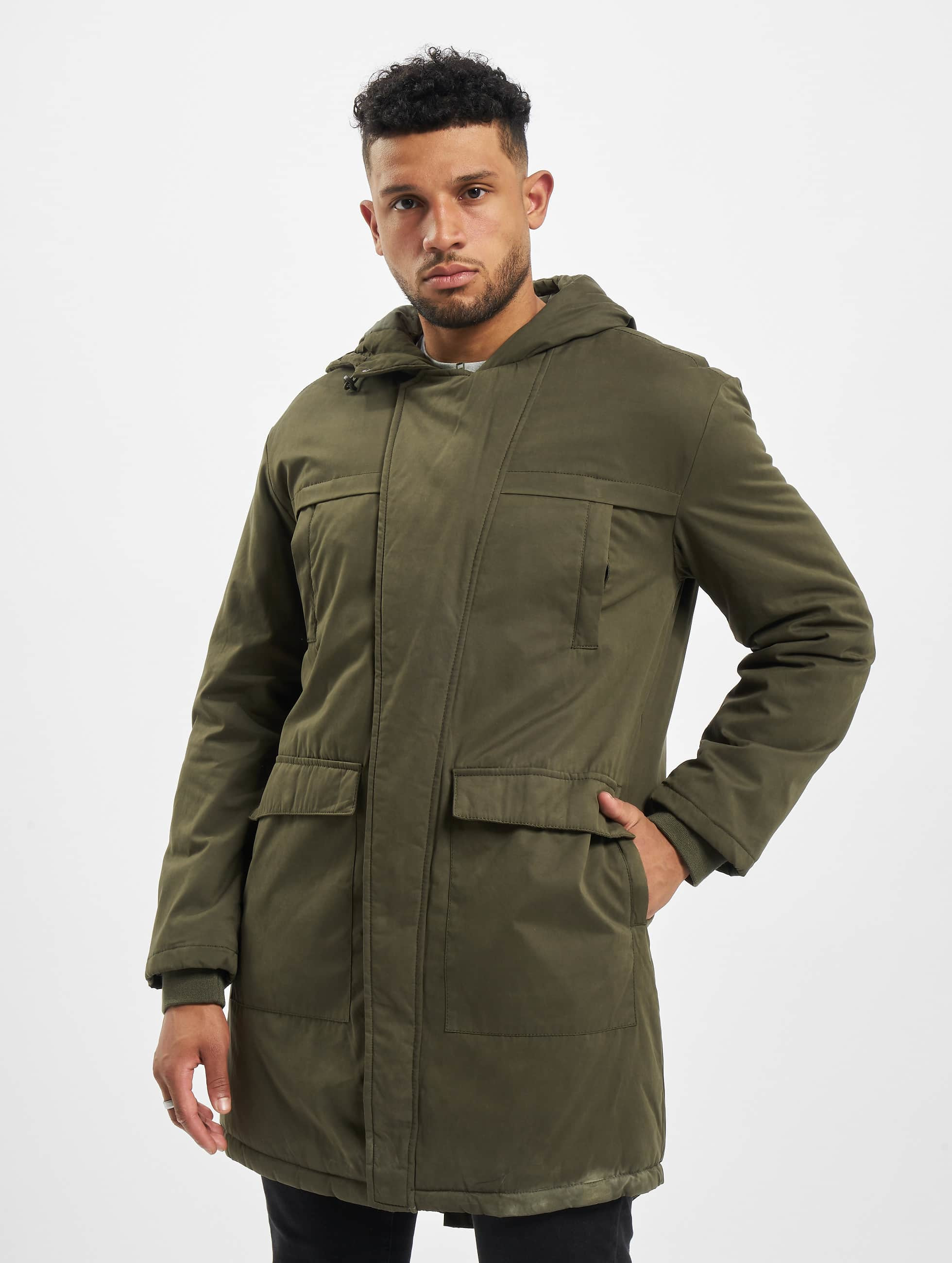 Urban Classics Coats Cotton Peached Canvas olive