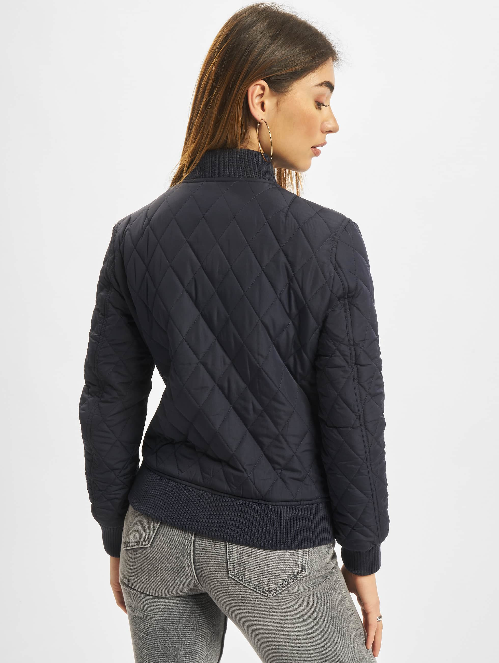 Urban Classics College Jacke Diamond Quilt Nylon blau