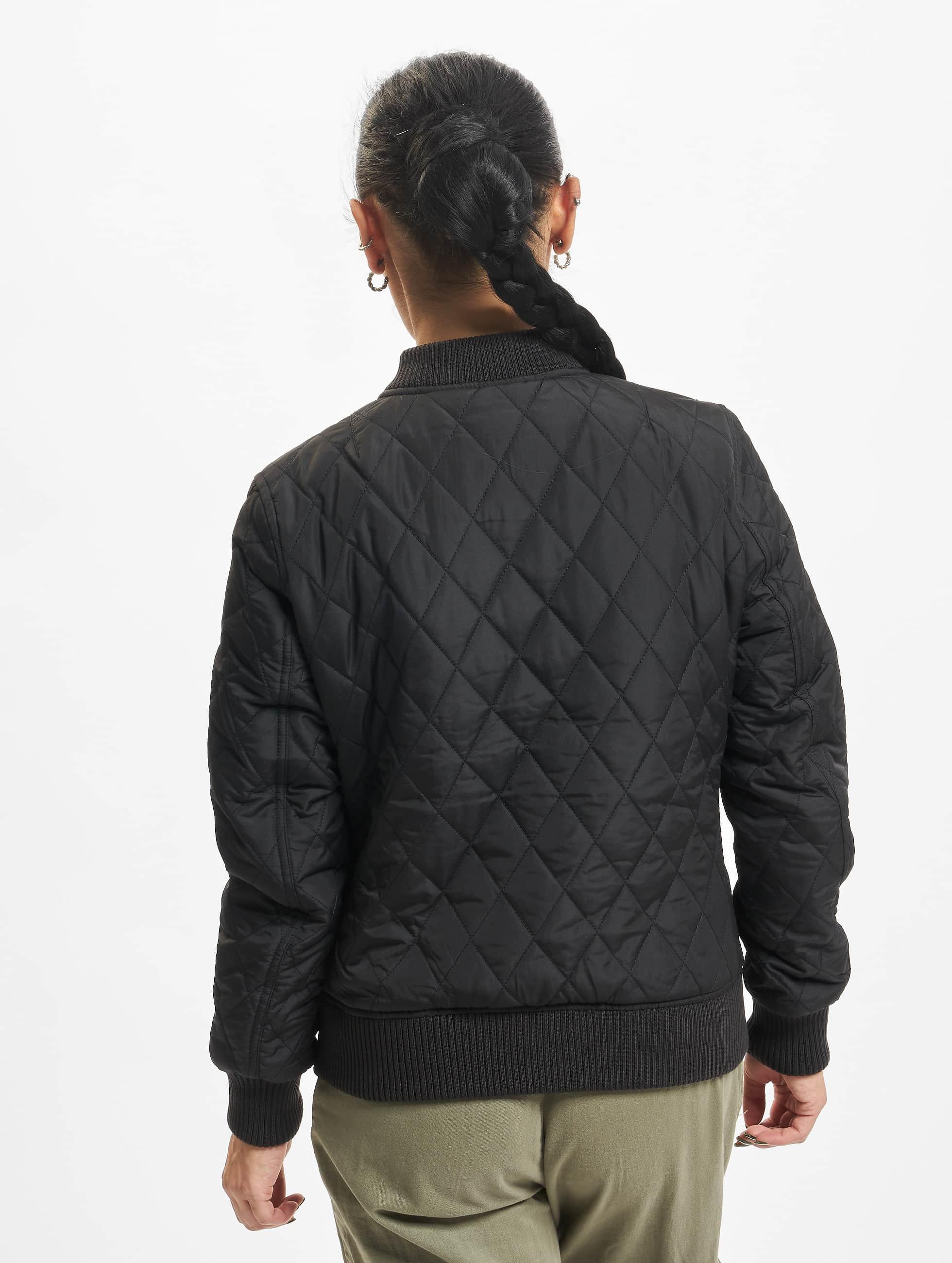 Urban Classics College Jacke Diamond Quilt schwarz