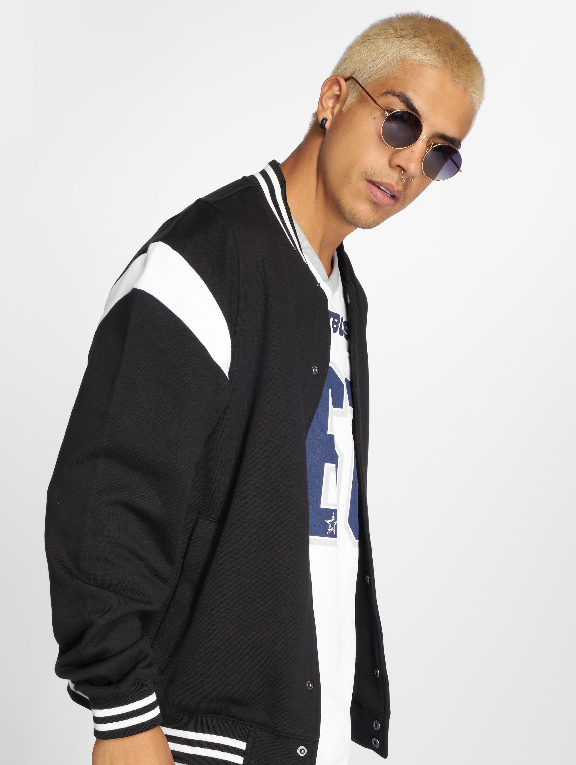 Urban Classics Inset College Jacket BlackWhite