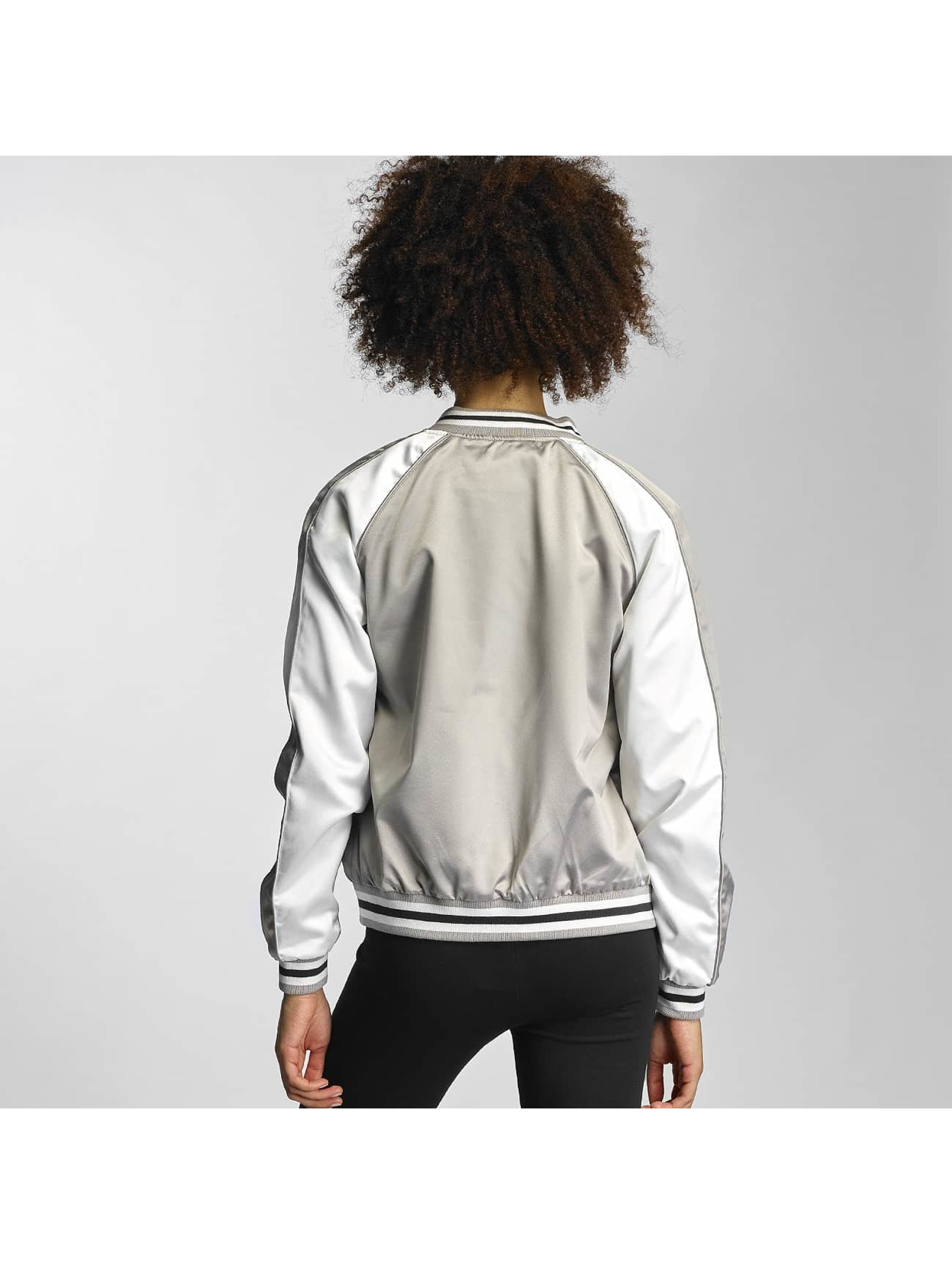 Urban Classics College Jacket 3 Tone Souvenir silver colored