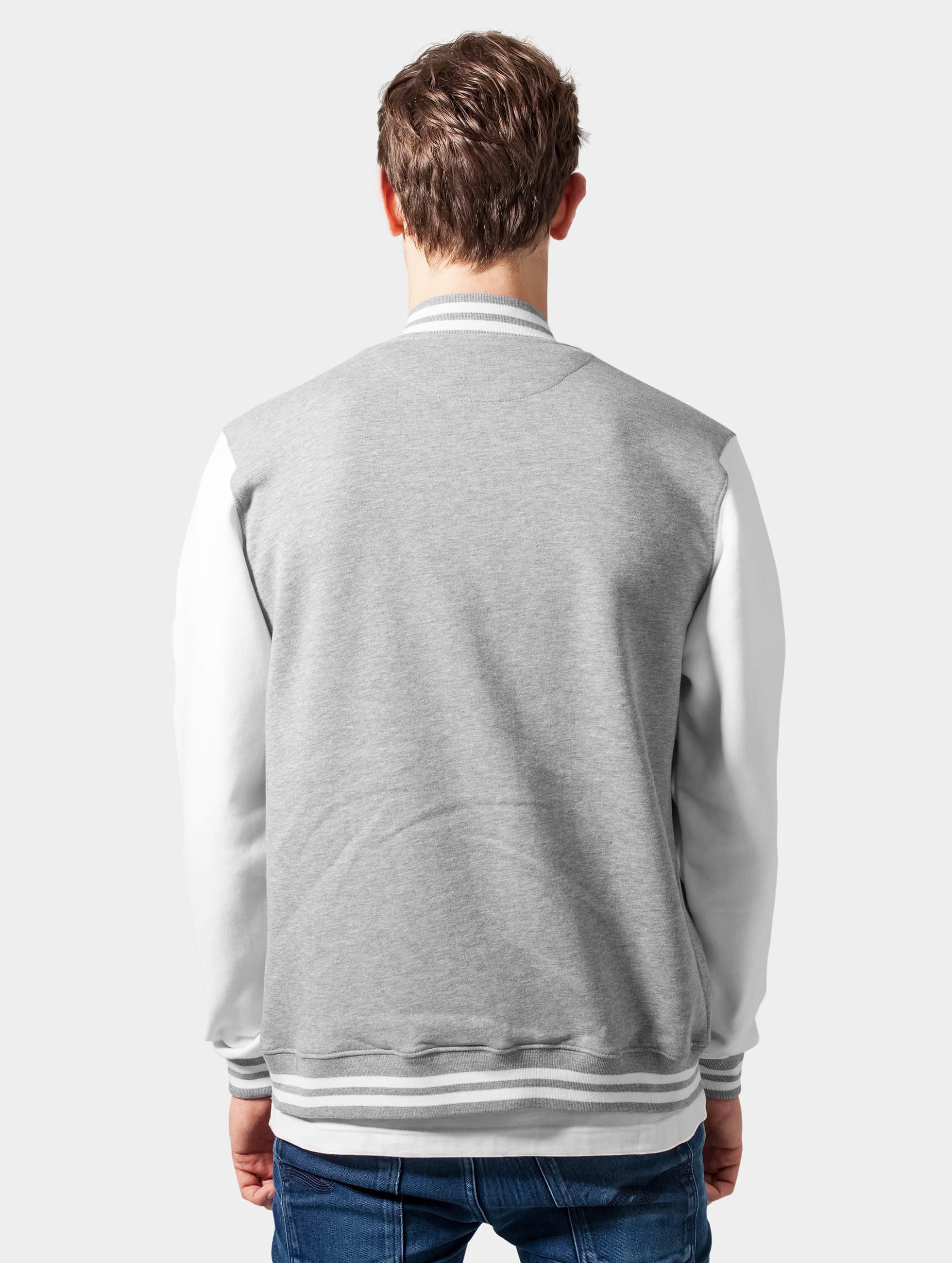 Urban Classics Collegetakit 2-Tone College Sweatjacket harmaa