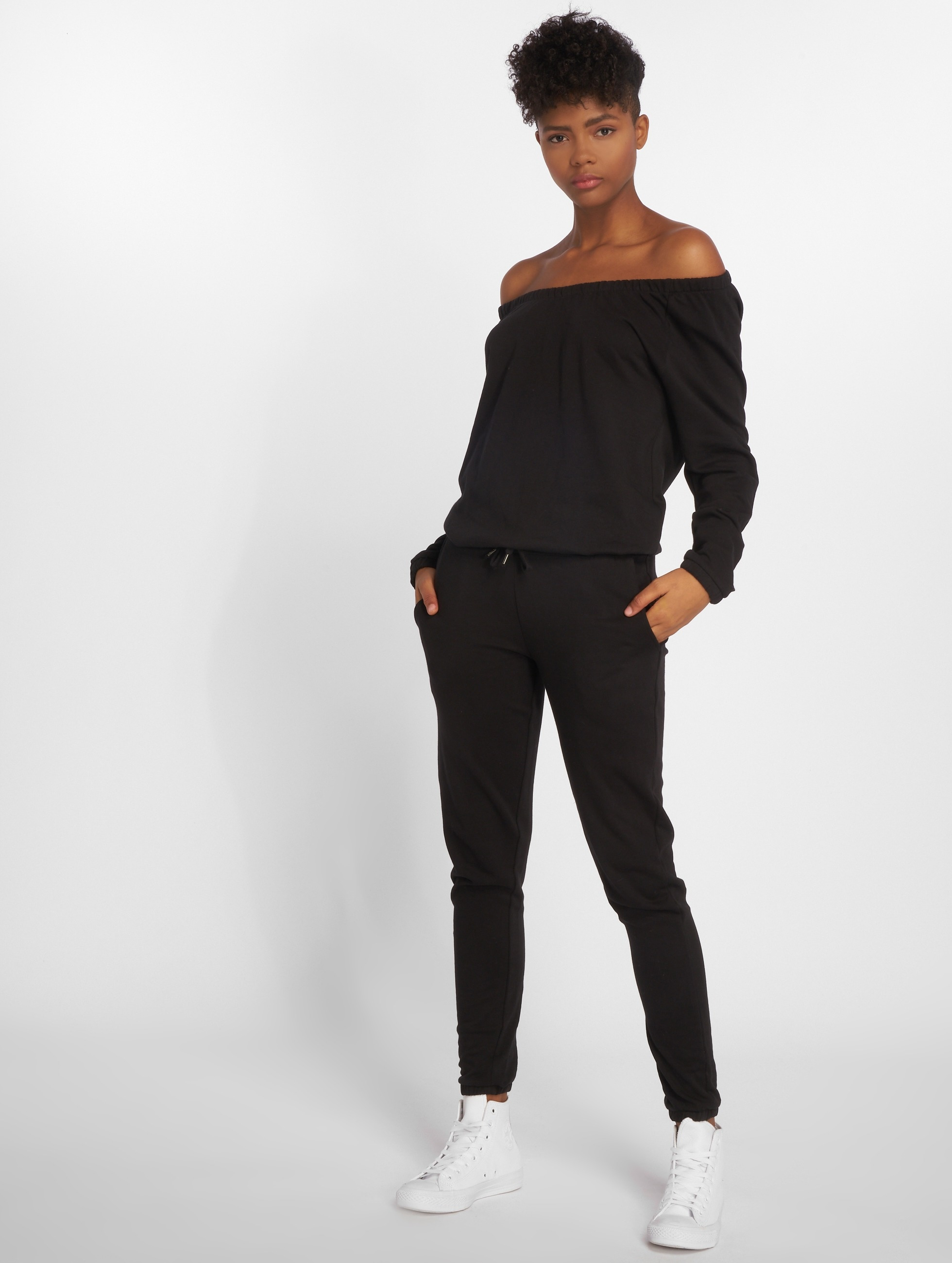 Urban Classics Ladies Long Sleeve Terry Jumpsuit Combinaison Femme
