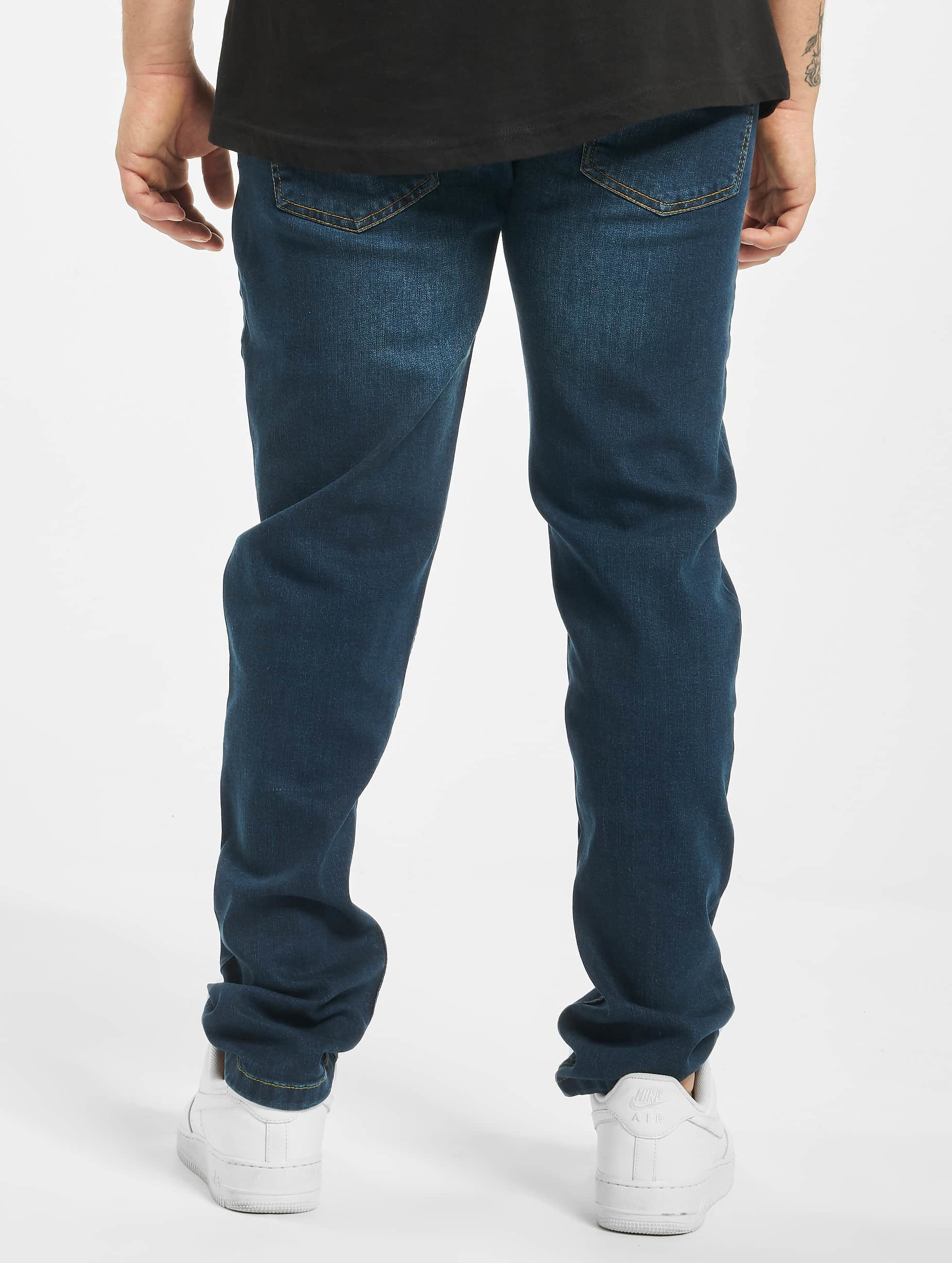 Urban Classics Dżinsy straight fit Stretch Denim niebieski