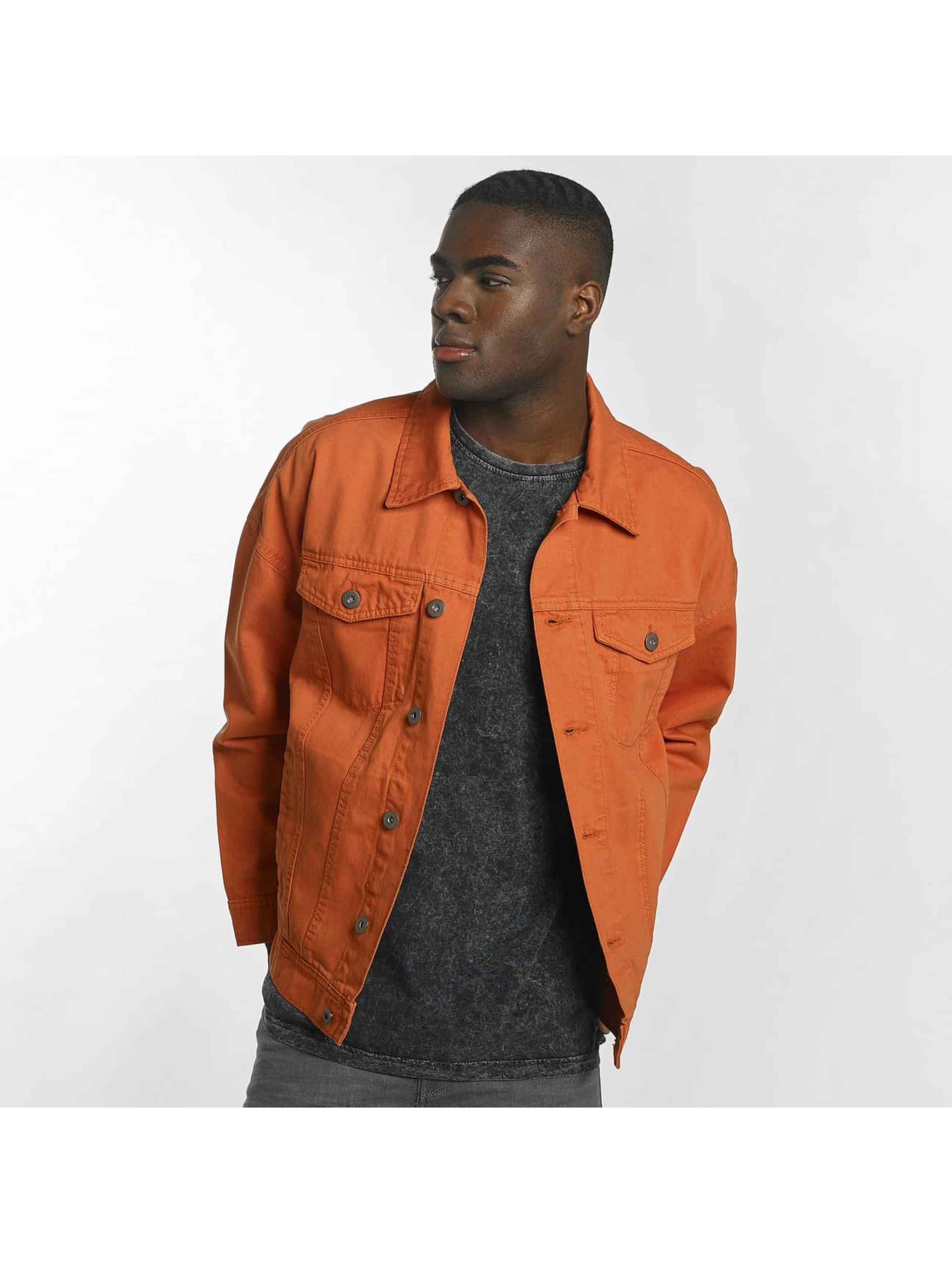 Urban Classics Giacca Mezza Stagione Garment Dye Oversize arancio