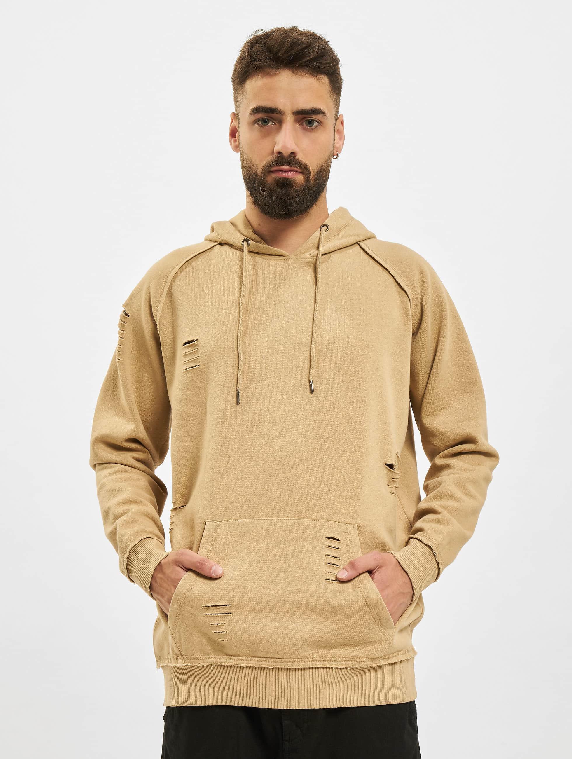 Urban Classics Hoodie Ripped Raglan beige
