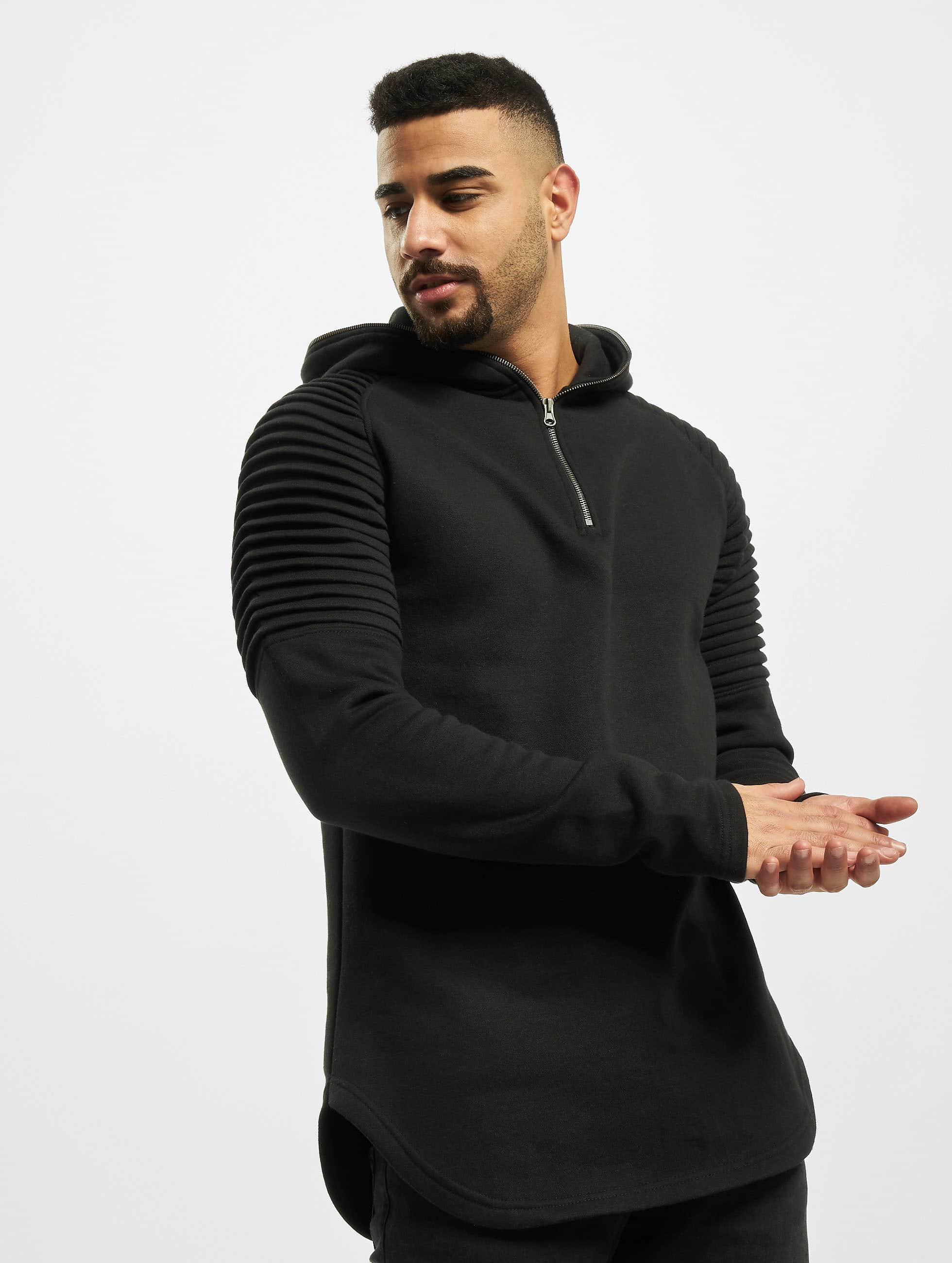 Urban Classics Hoodie Pleat Sleeves Terry black