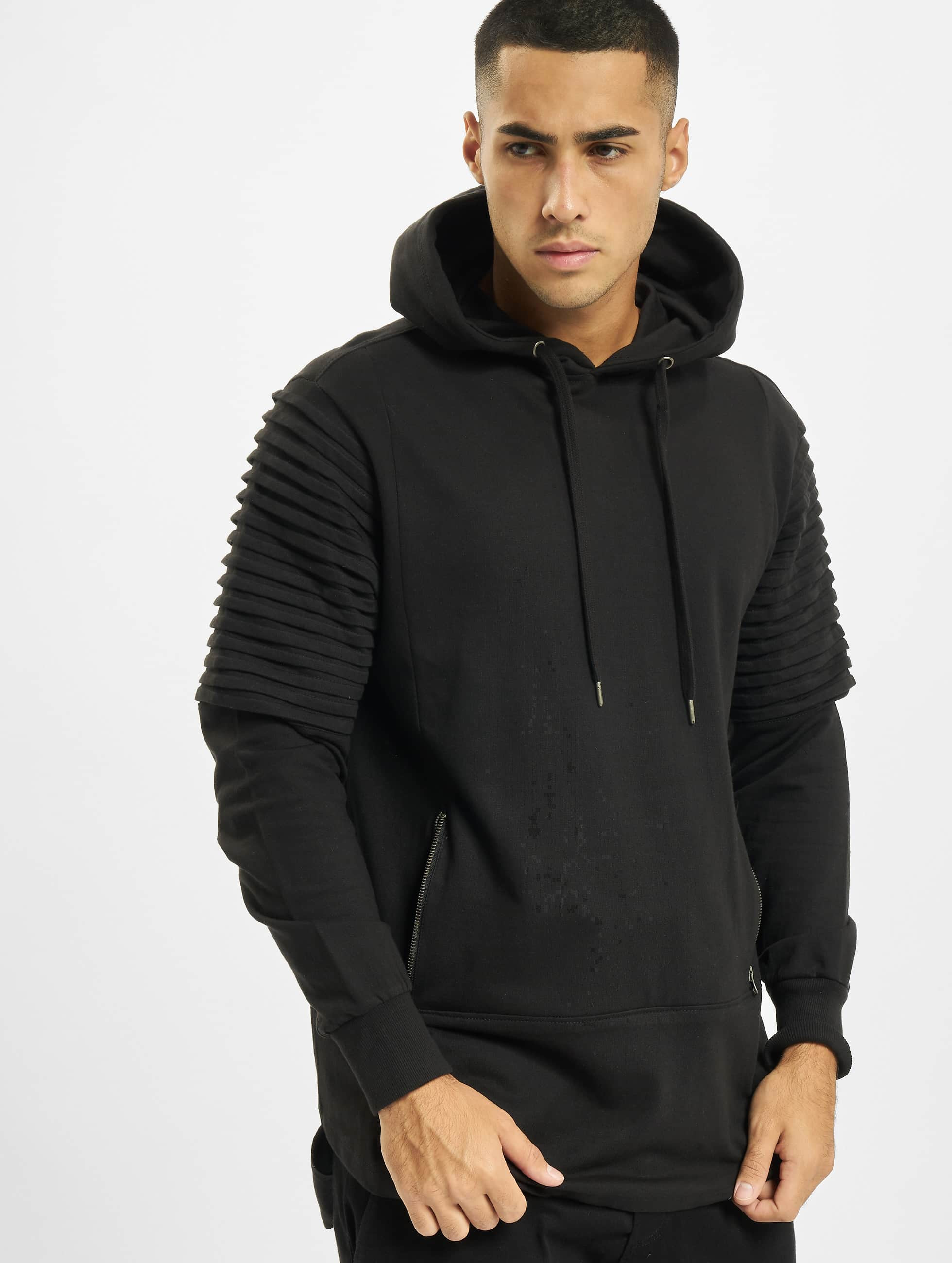 Urban Classics Hoodie Pleat Sleeves Terry HiLo black